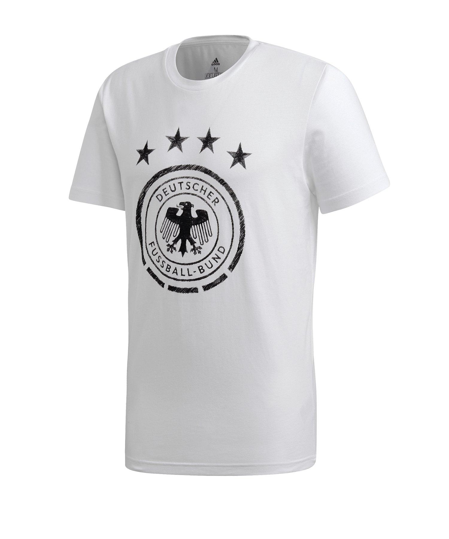 adidas DFB Deutschland DNA T-Shirt Weiss - weiss