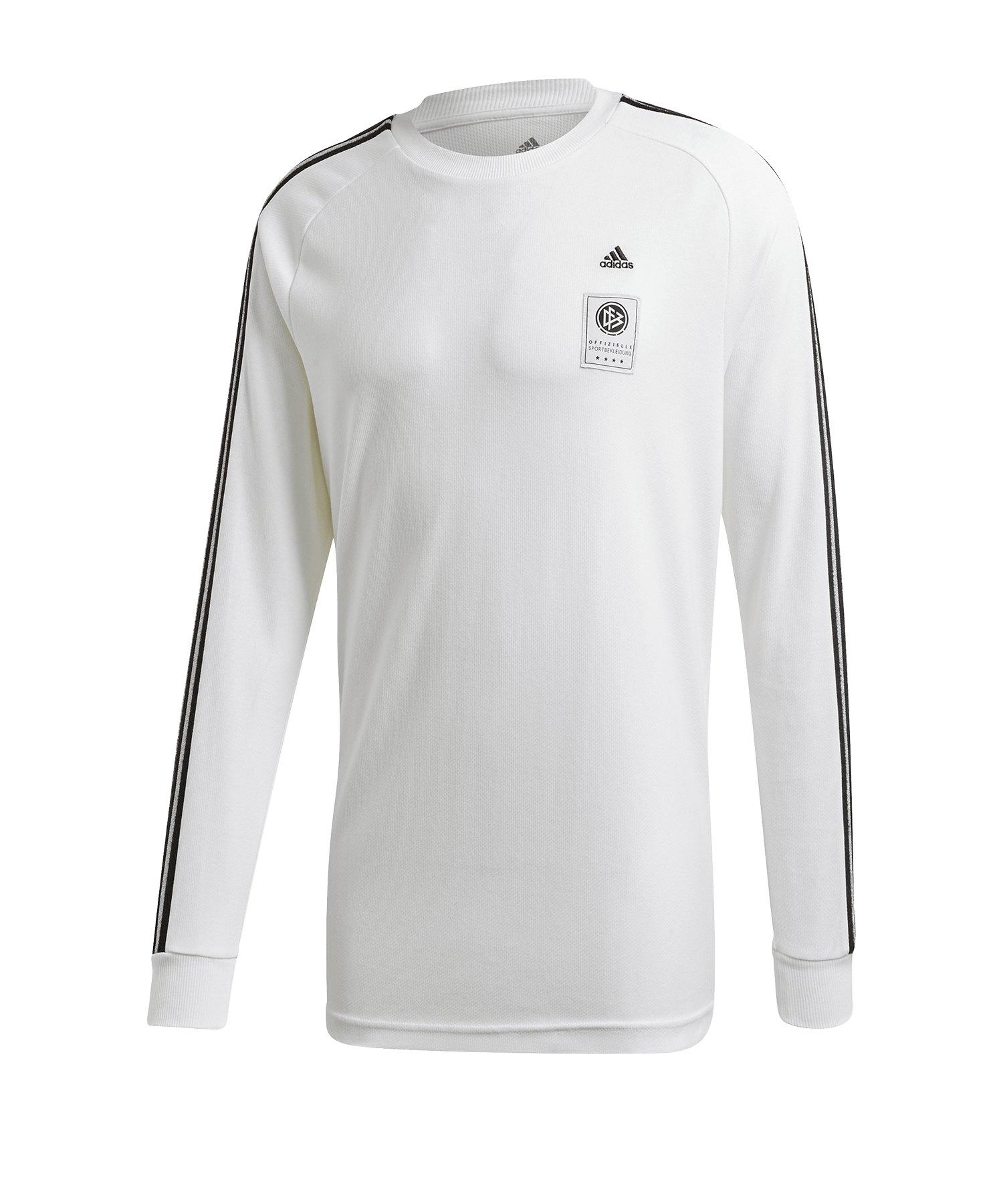 adidas DFB Deutschland Icon Shirt langarm Weiss - weiss