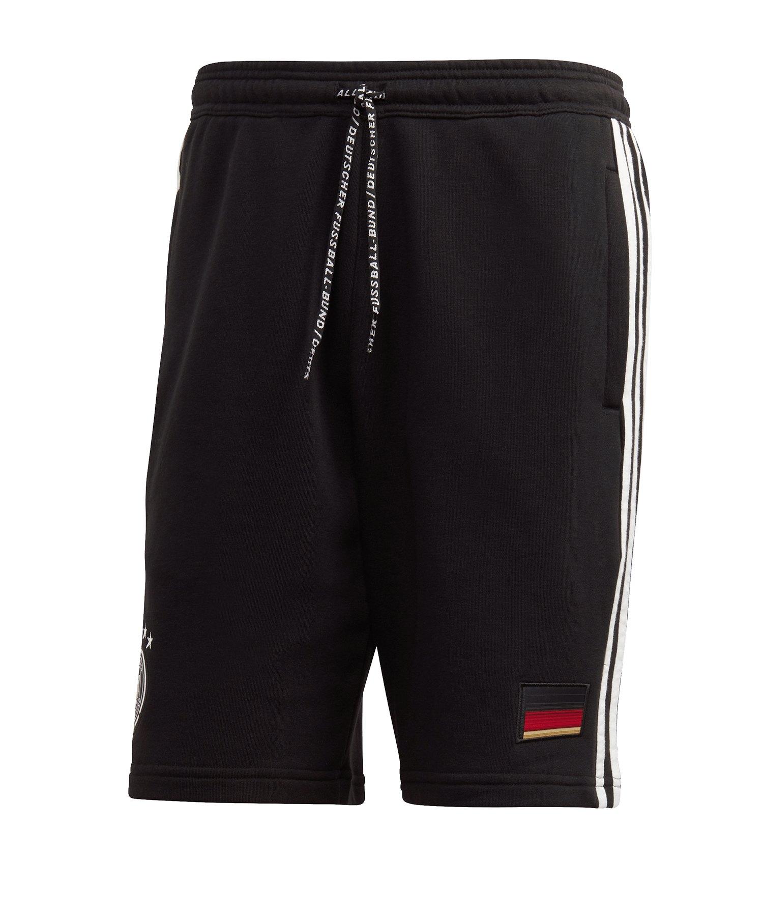 adidas DFB Deutschland 3S Short Schwarz - schwarz