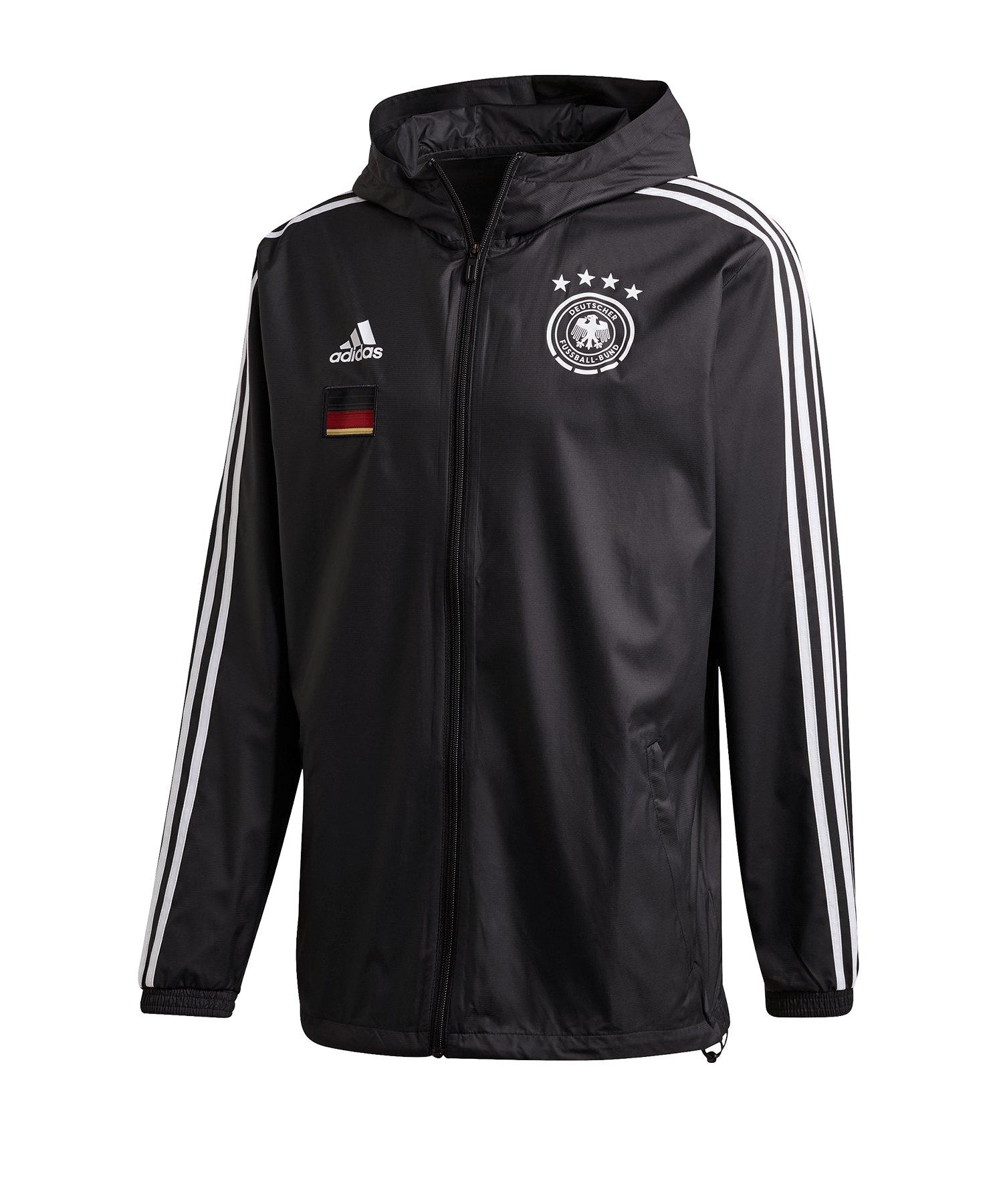 adidas DFB Deutschland Windbreaker Jacke Schwarz - schwarz