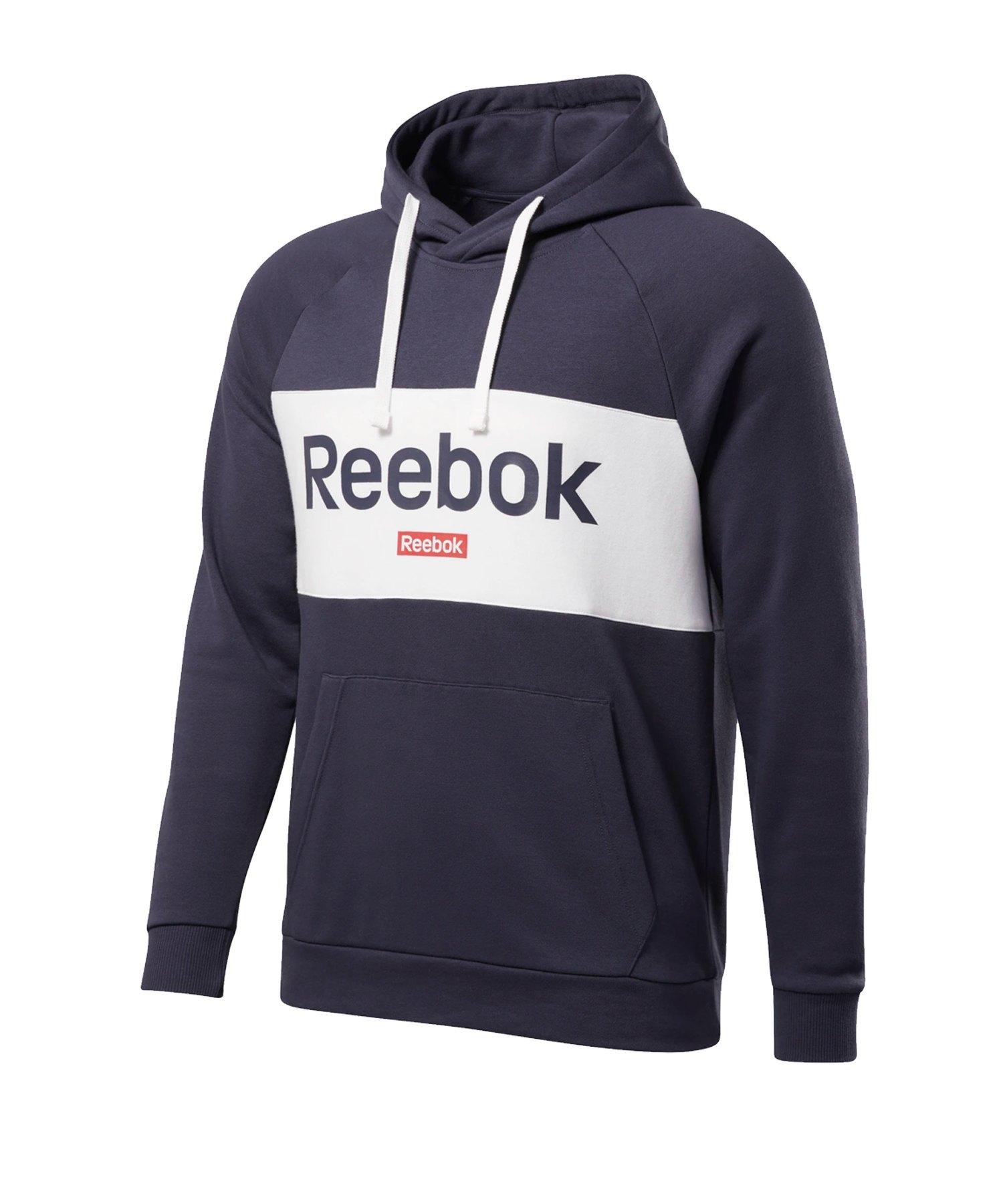 Reebok Big Logo Hoody Blau Weiss - blau