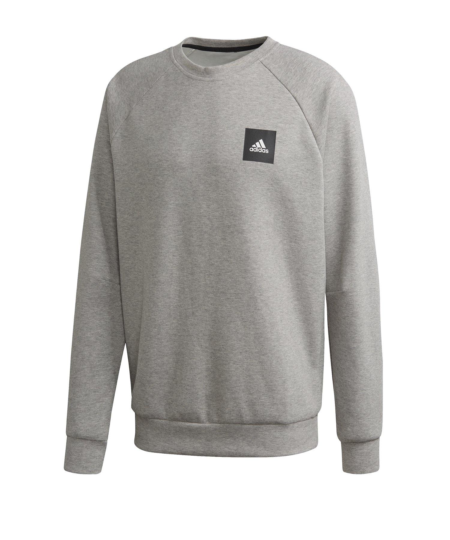 adidas Crew Sweatshirt Grau Schwarz - grau