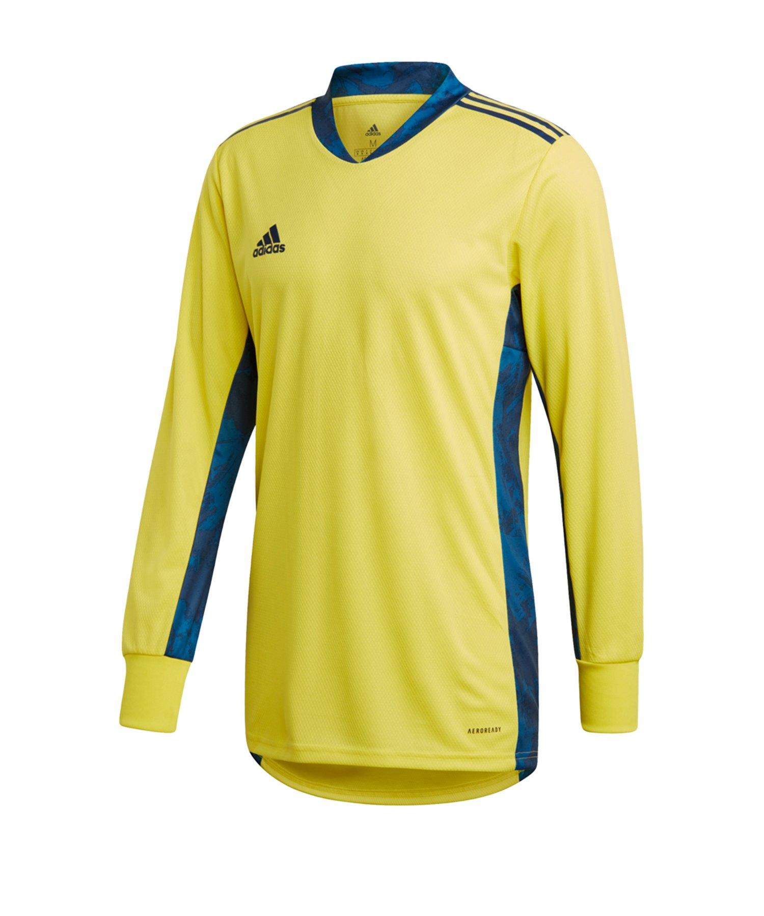 adidas AdiPro 20 Torwarttrikot langarm Gelb Blau - gelb
