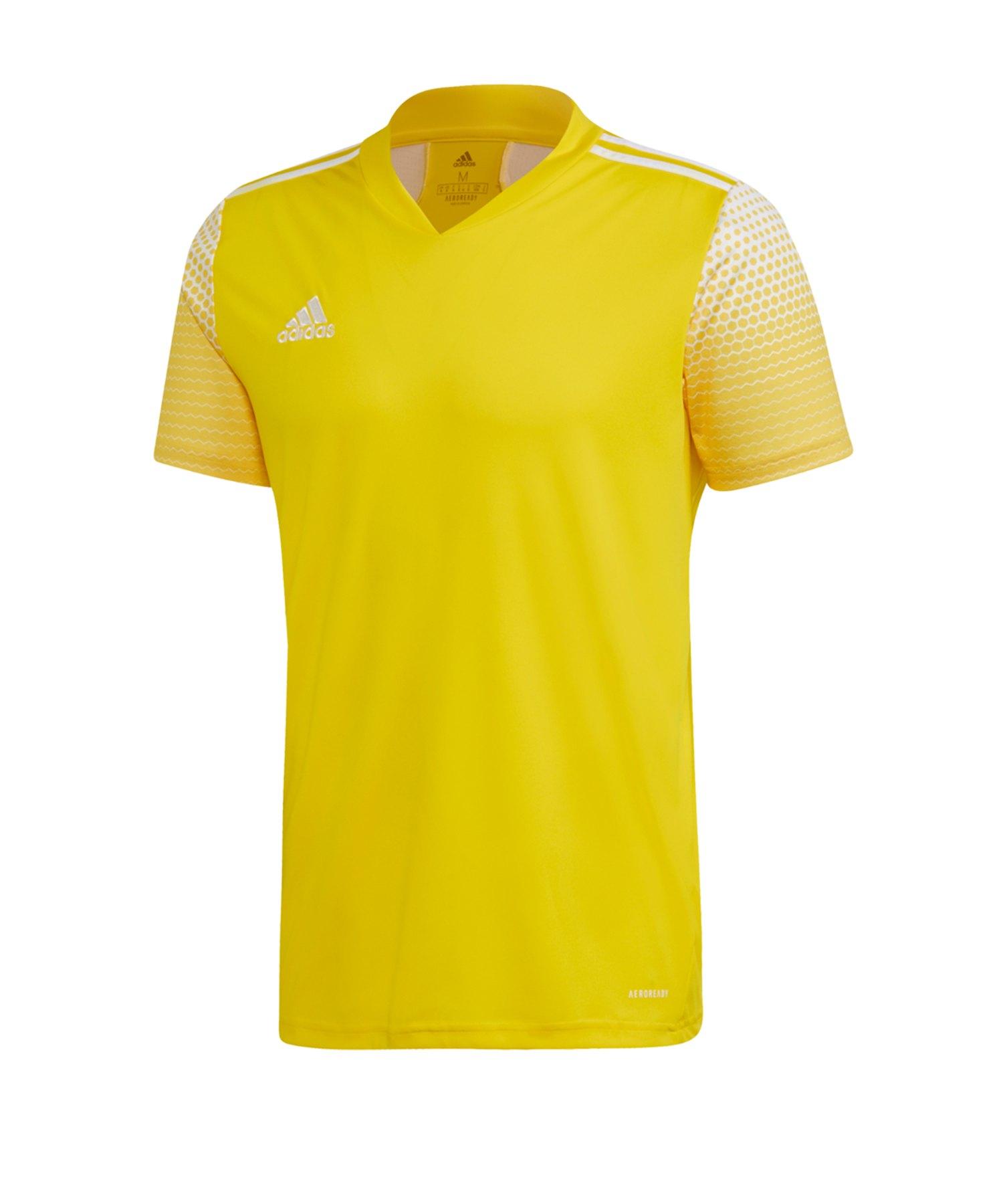 adidas Regista 20 Trikot kurzarm Gelb Weiss - gelb