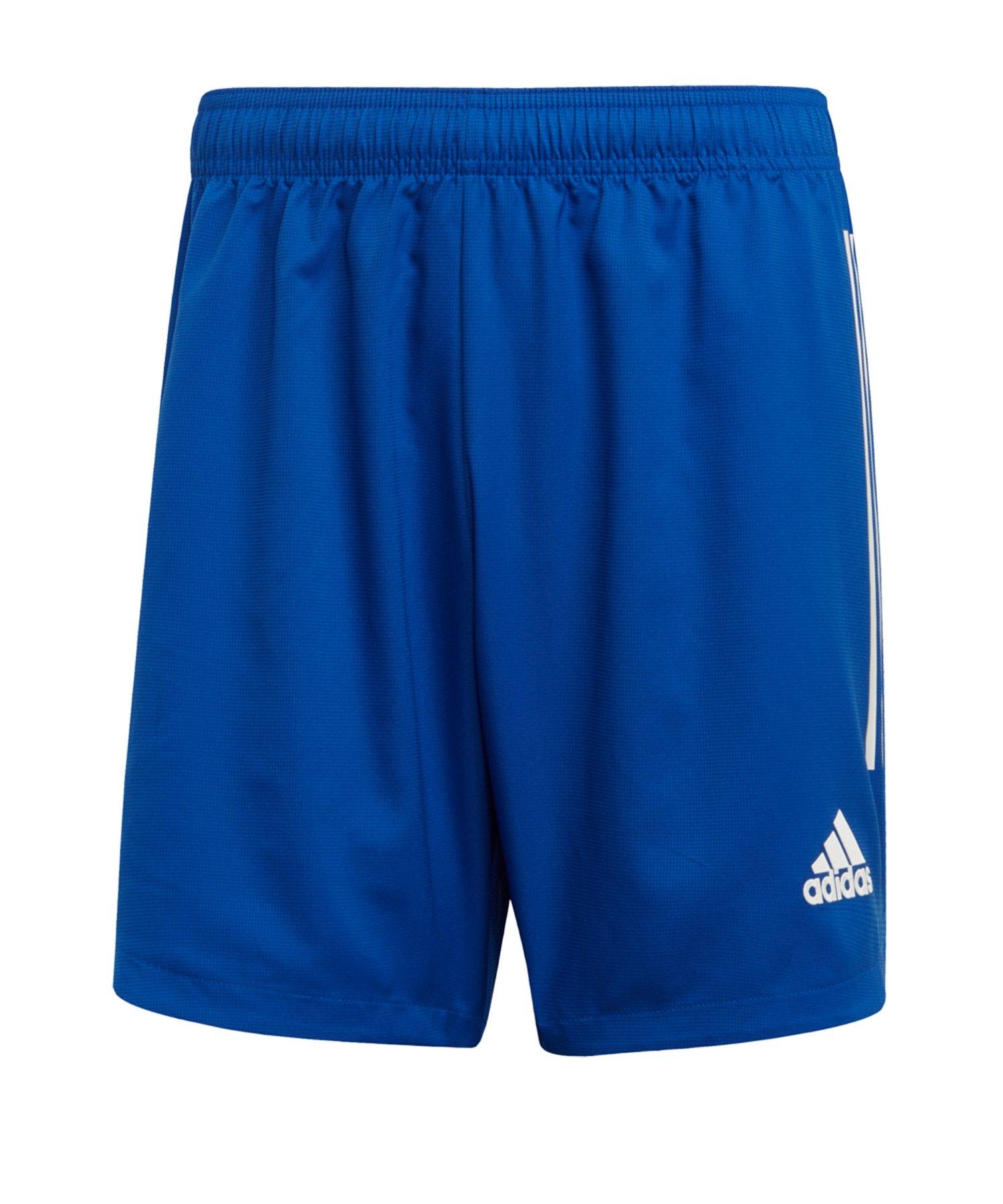 adidas Condivo 20 Short Blau Weiss - blau