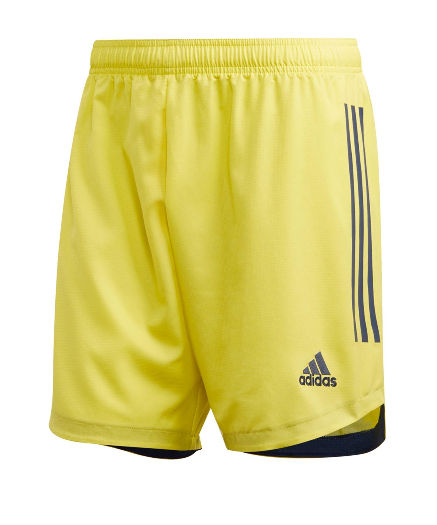 adidas Condivo 20 Short Gelb Schwarz - gelb