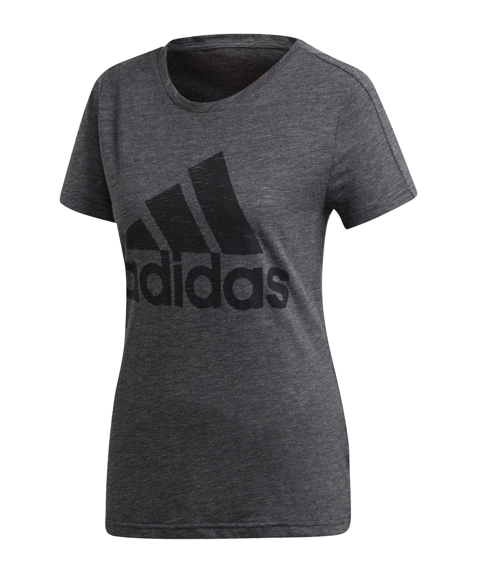 adidas Winners T-Shirt Damen Grau Schwarz - grau