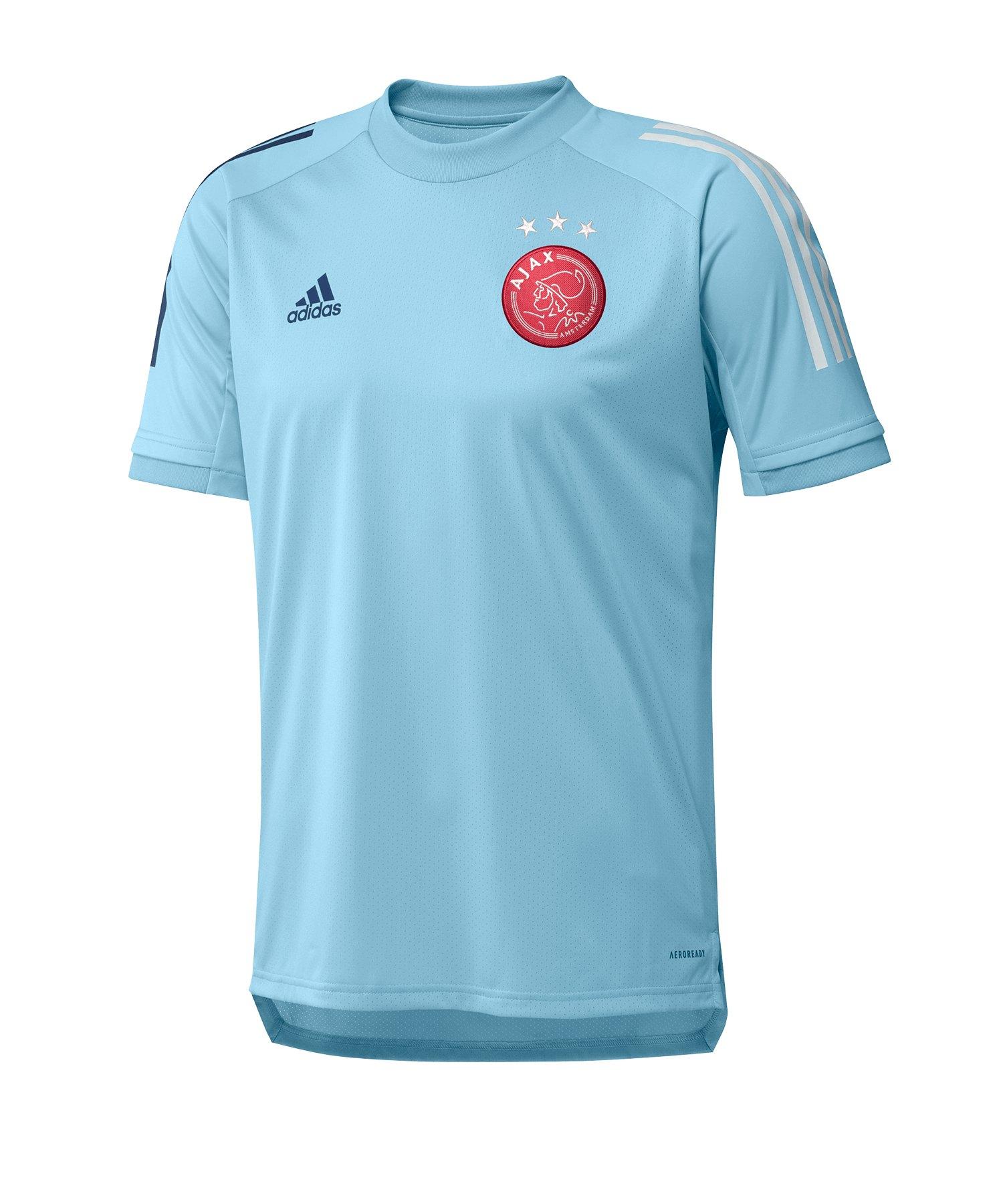 adidas Ajax Amsterdam Trainingsshirt kurzarm Blau - blau