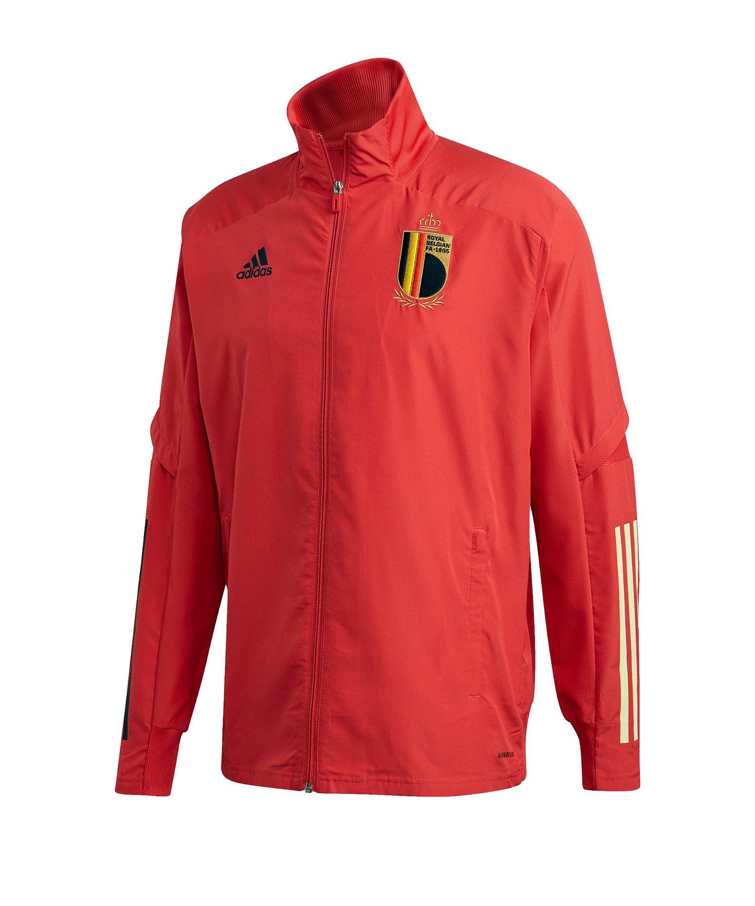 adidas Belgien Prematch Jacke Rot - rot