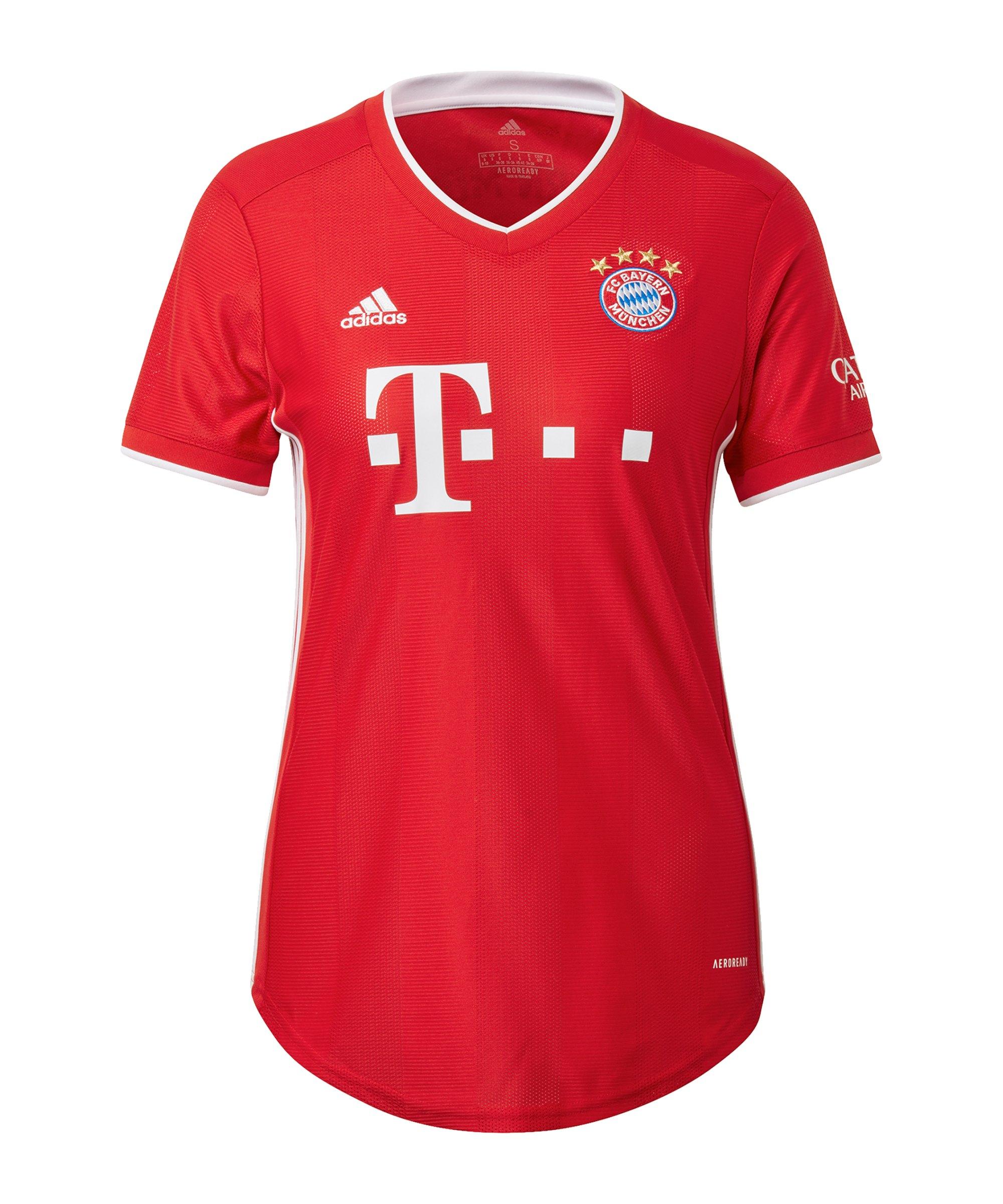 adidas FC Bayern München Trikot Home 2020/2021 Damen Rot - rot