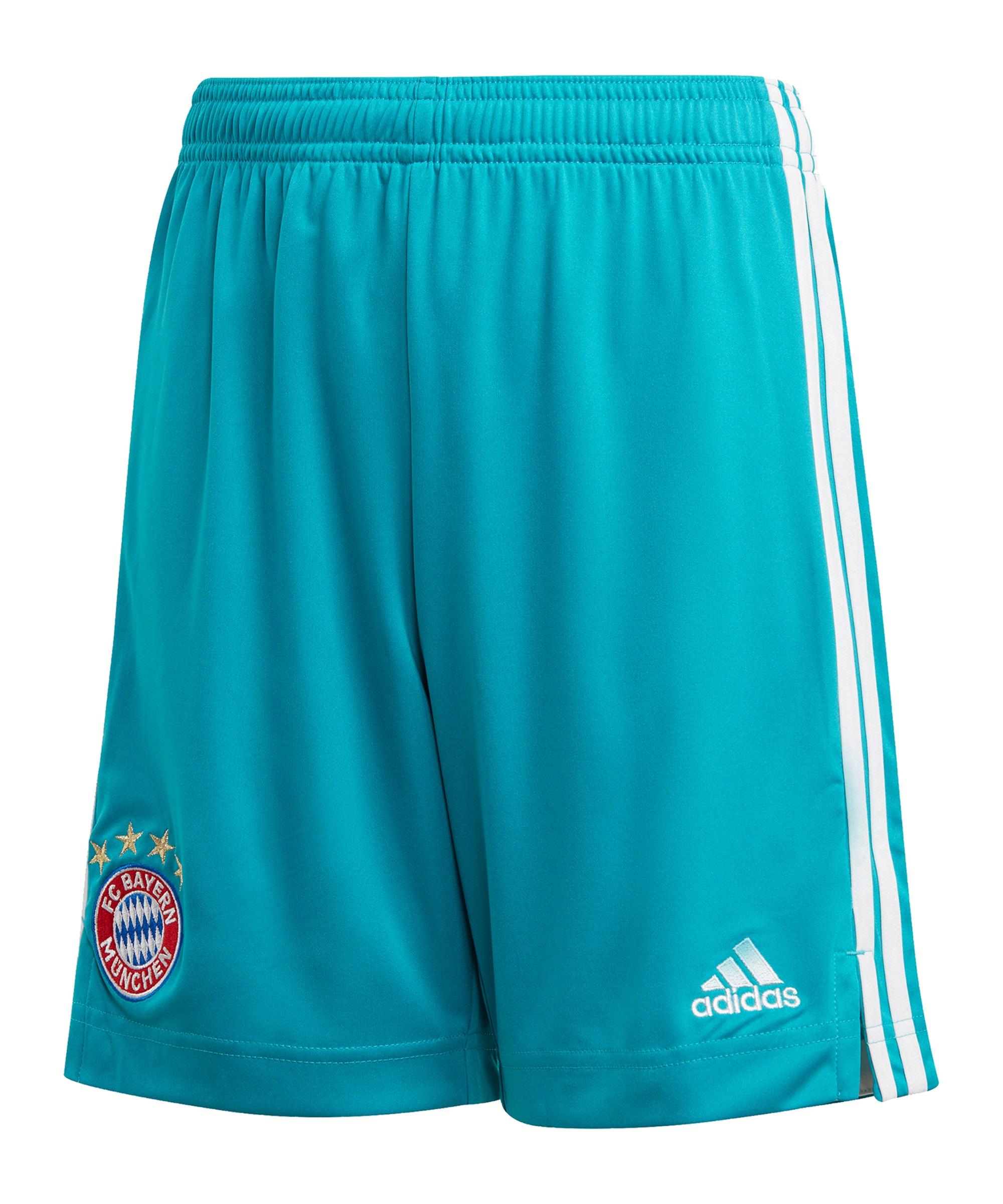 adidas FC Bayern München TW-Short 20/21 Kids Grün - gruen