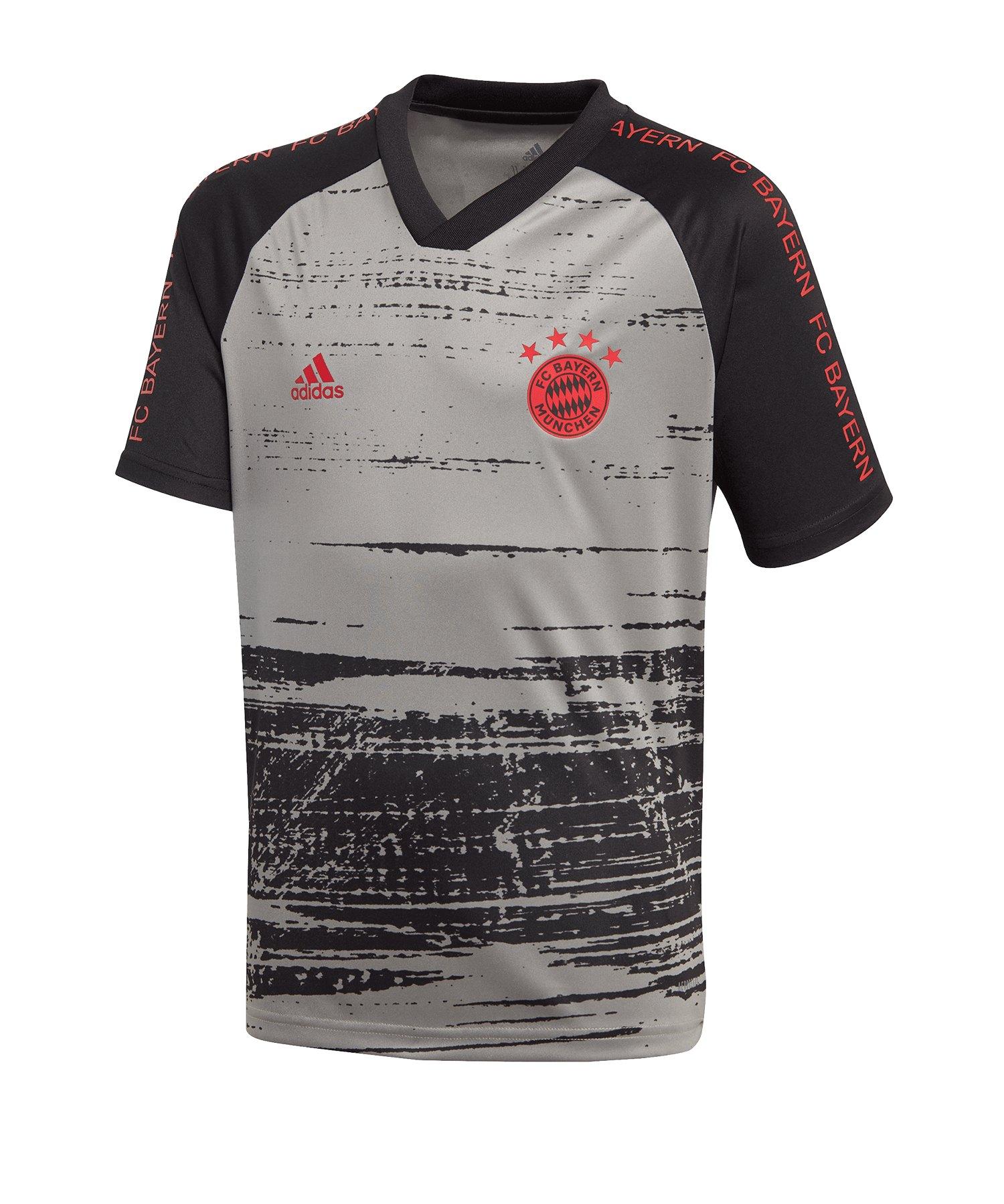 adidas FC Bayern München Prematch Shirt Kids Grau - grau