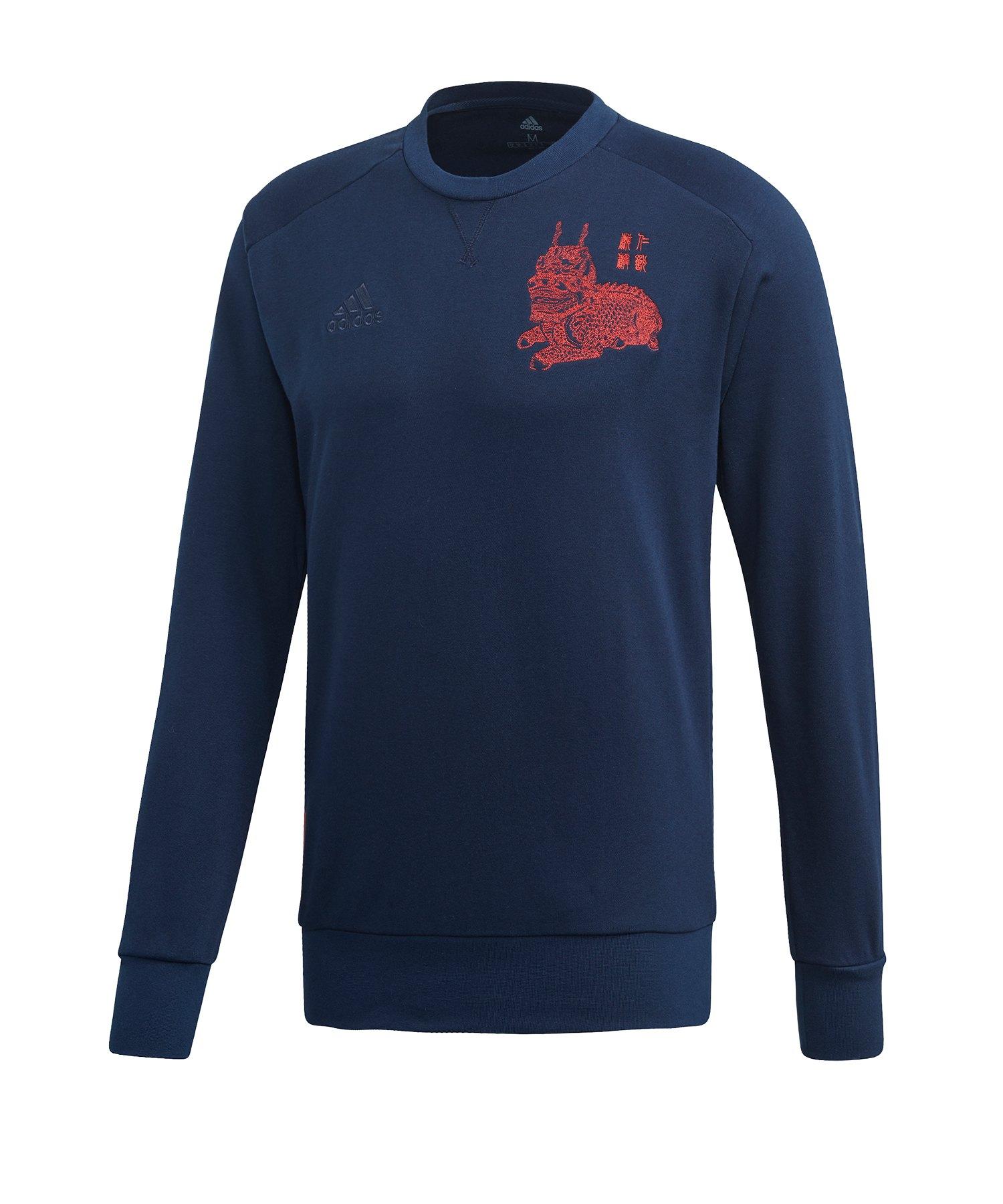 adidas FC Bayern München CNY Sweater Blau - blau
