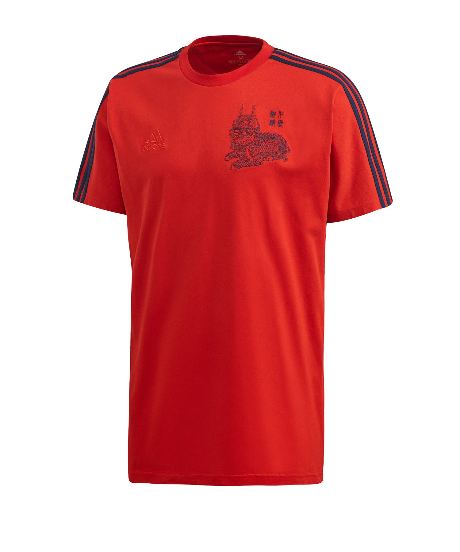 adidas FC Bayern München CNY Tee T-Shirt Rot - rot