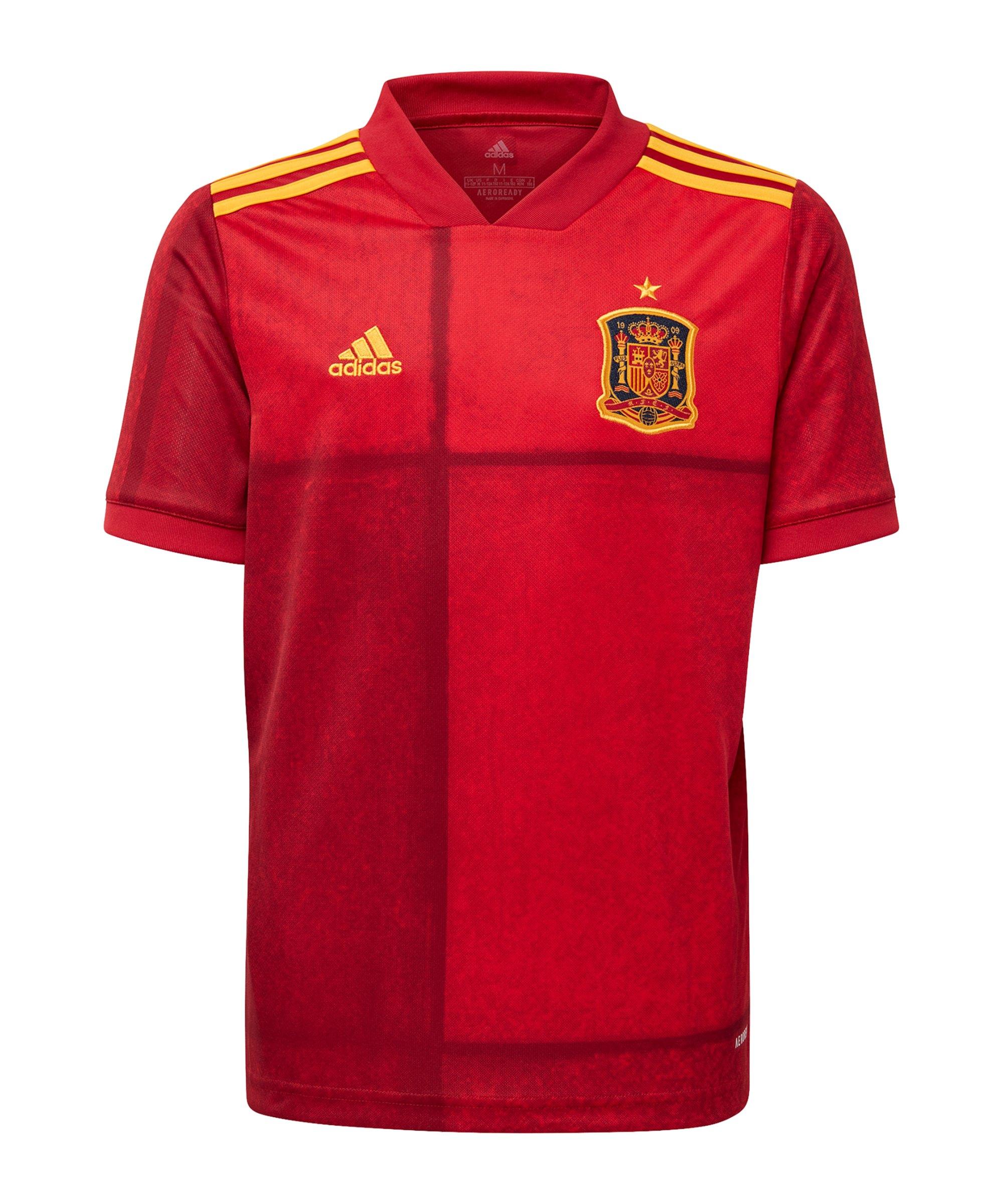 adidas Spanien Trikot Home EM 2020 Kids Rot - rot