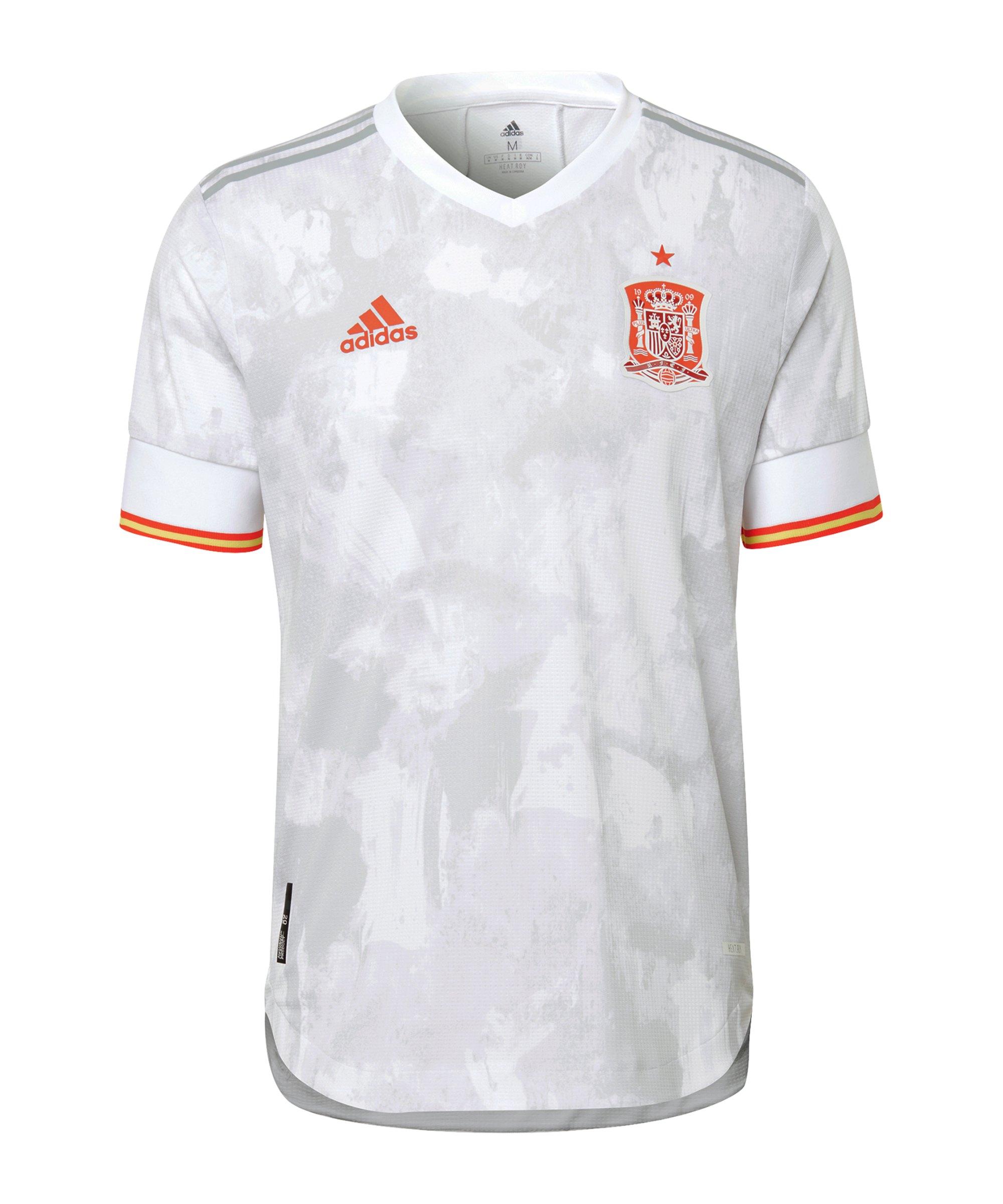 adidas Spanien Auth. Trikot Away EM 2020 Weiss - weiss