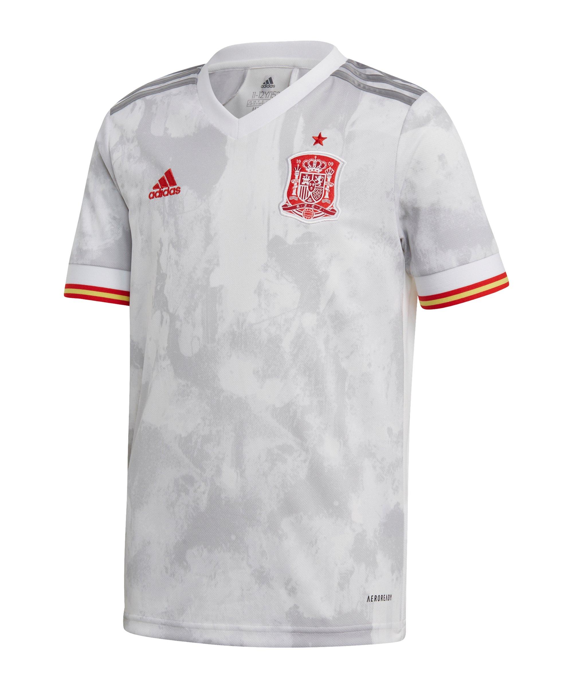 adidas Spanien Trikot Away EM 2020 Kids Weiss - weiss