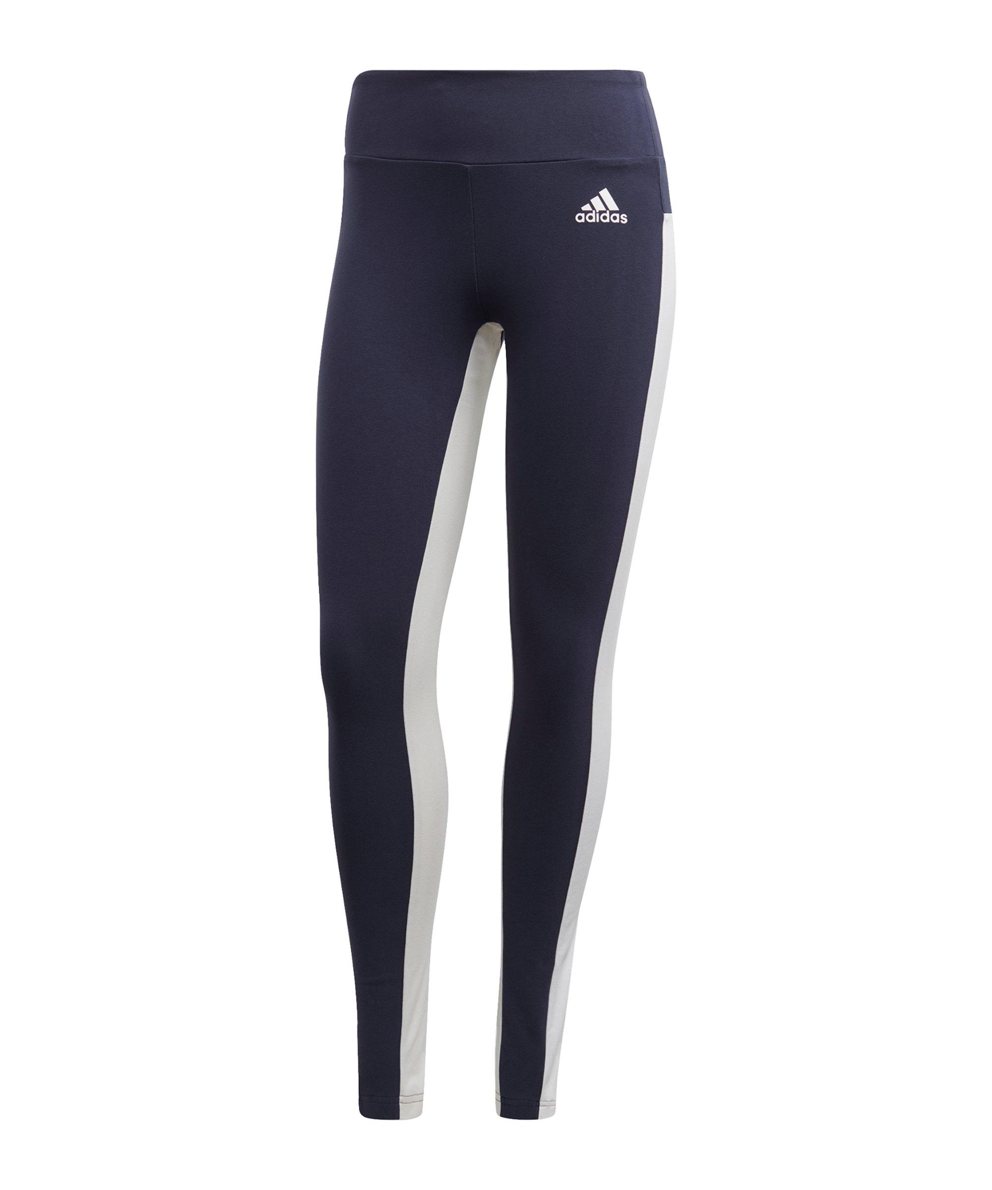 adidas SP Tight Damen Blau Weiss - blau