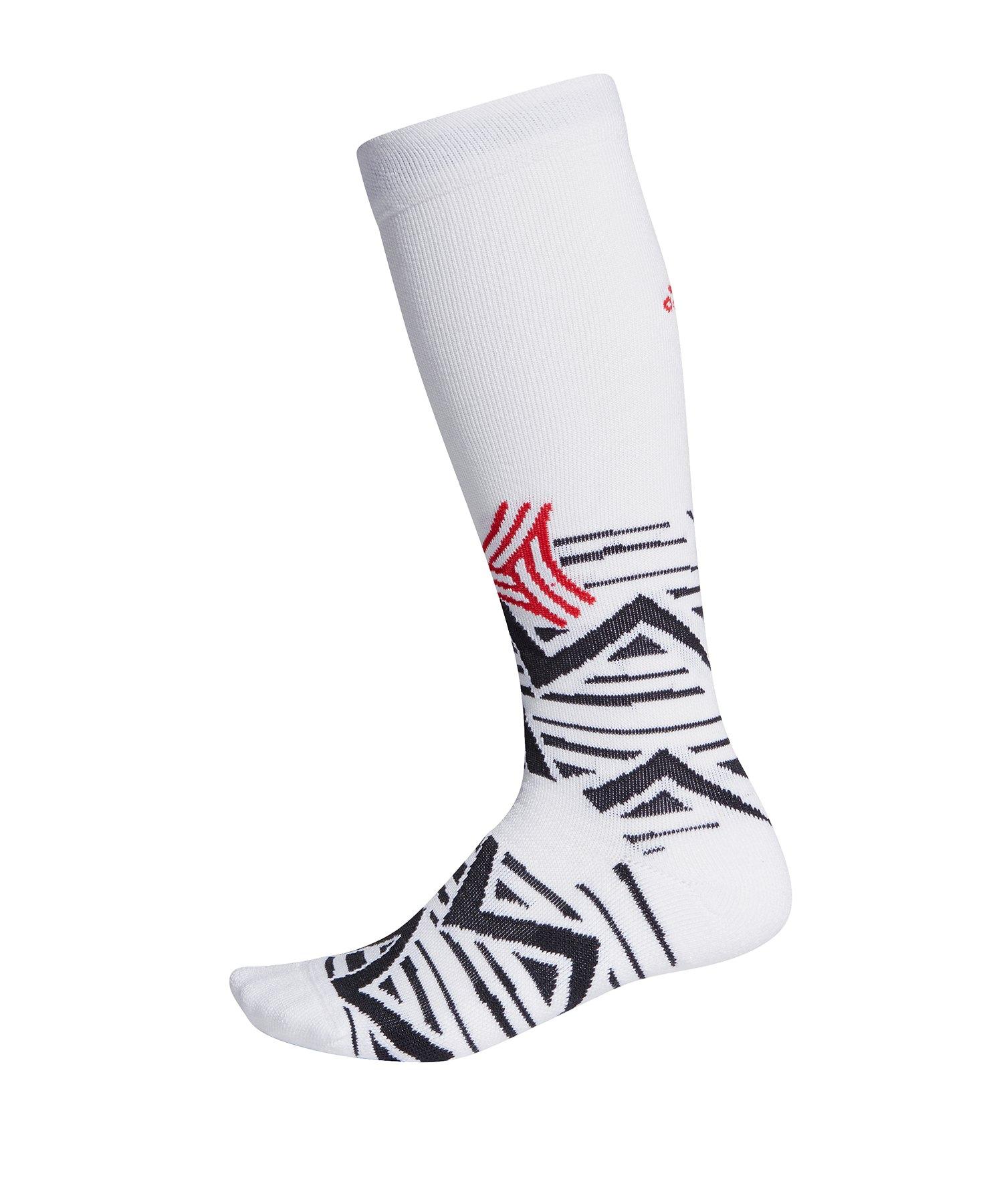 adidas ASK GR OTC Socken Weiss Schwarz Rot - weiss