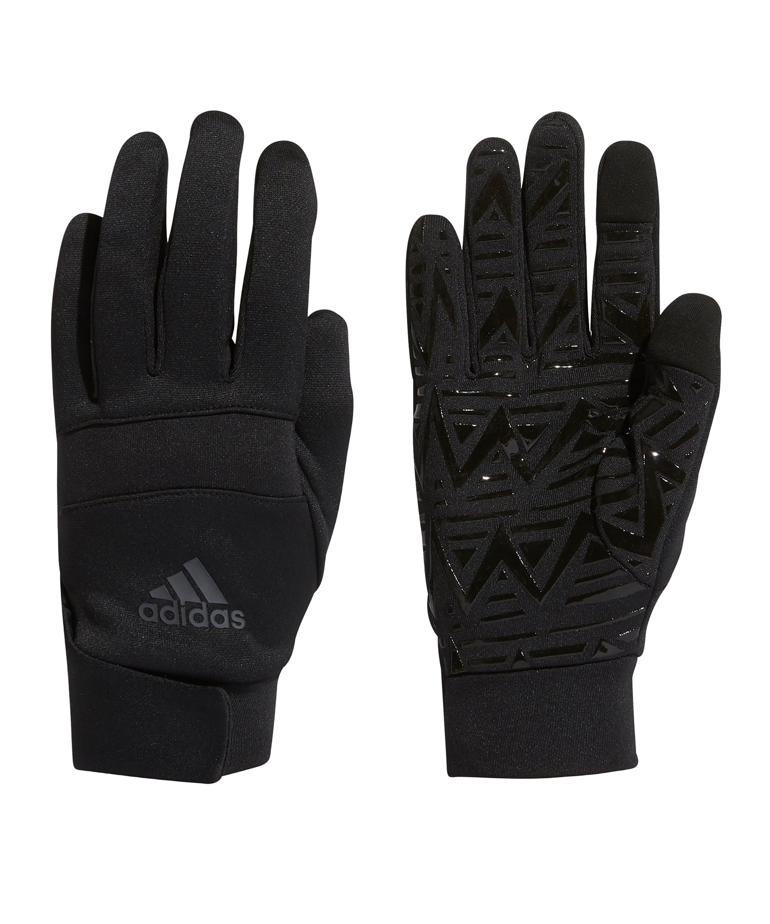 adidas Gloves Handschuhe Schwarz Rot - schwarz