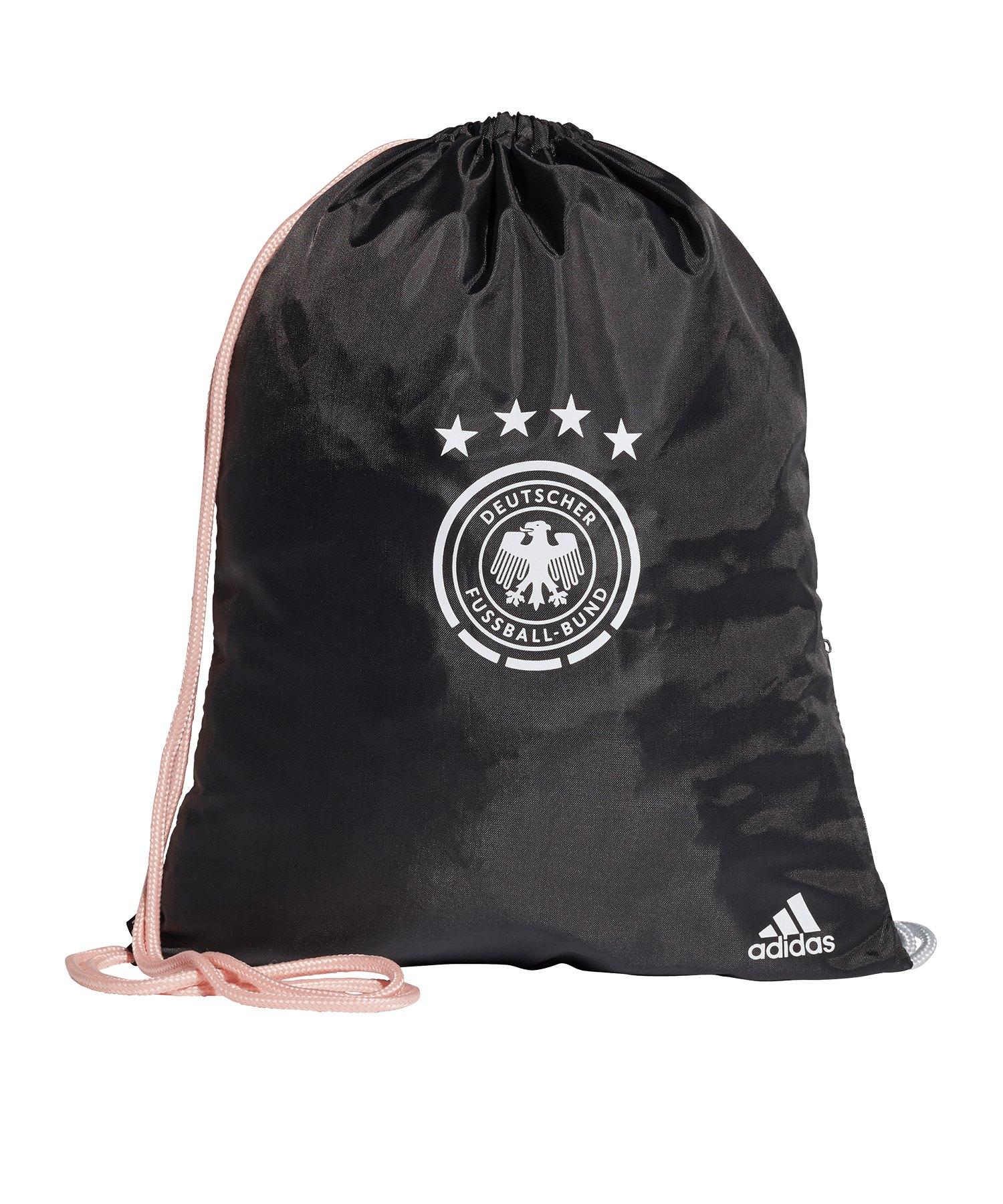 adidas DFB Deutschland Gymsack Schwarz - schwarz
