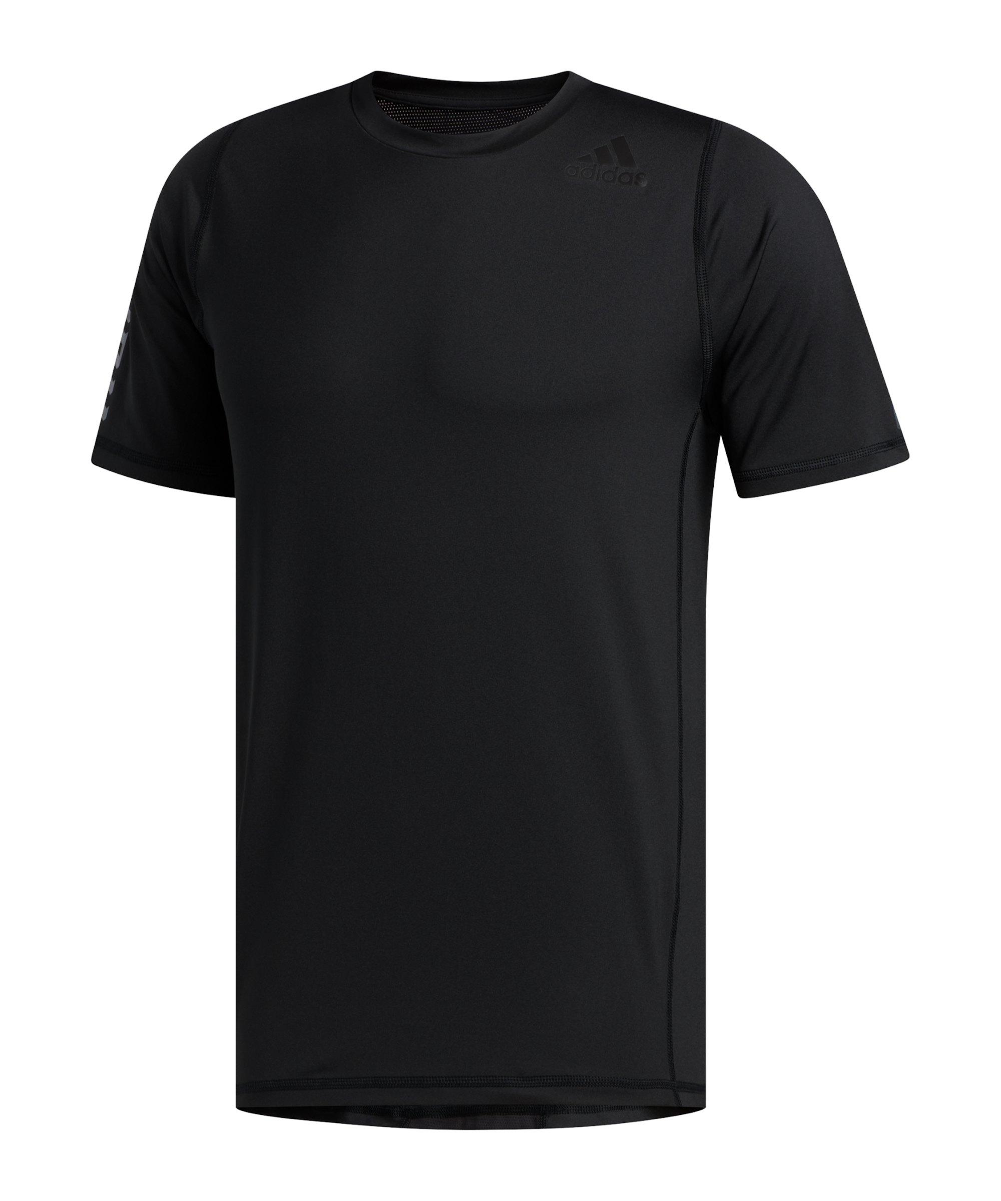 adidas Alphaskin Graphic T-Shirt Schwarz - schwarz