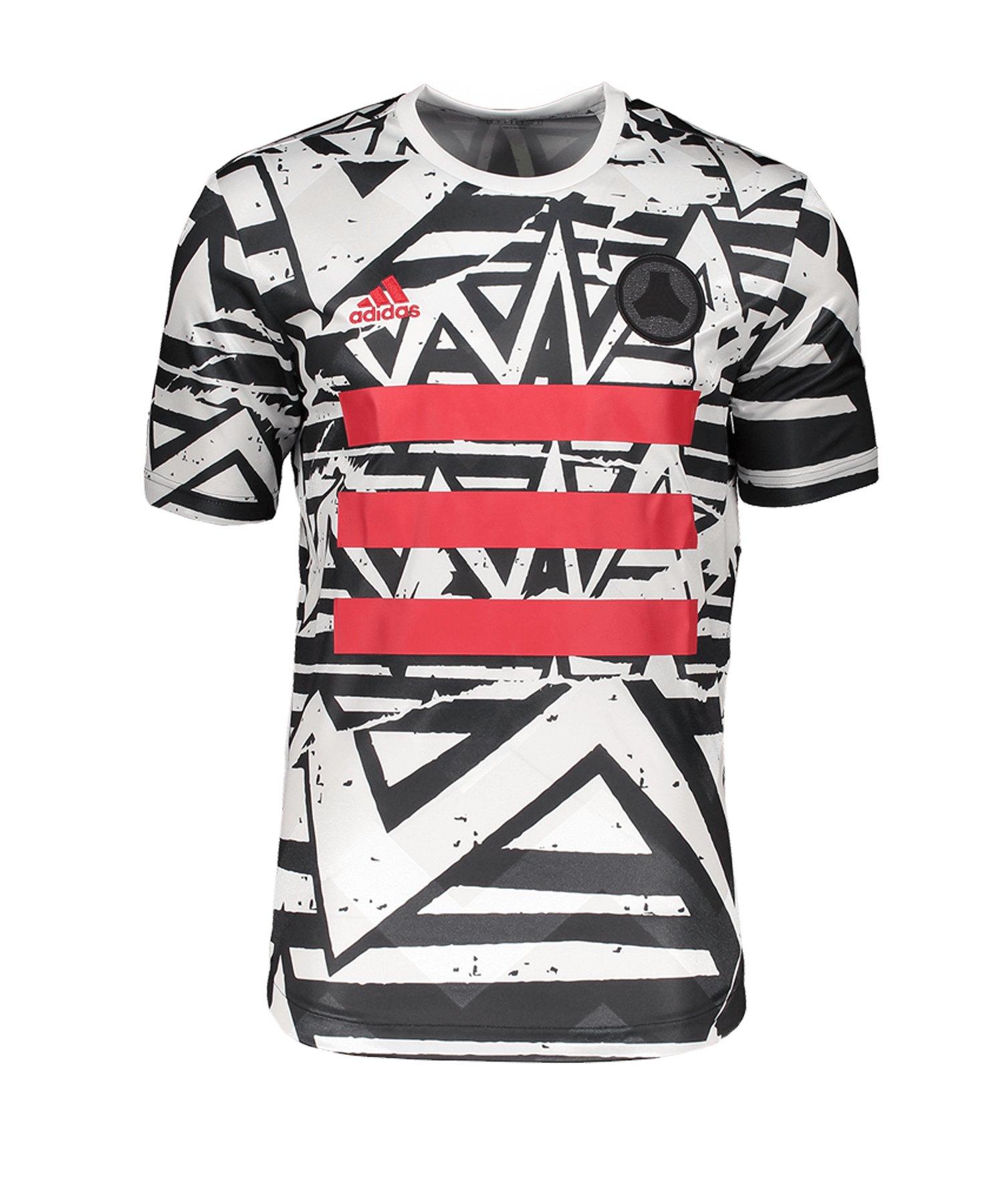 adidas Tango T-Shirt Weiss Schwarz - weiss