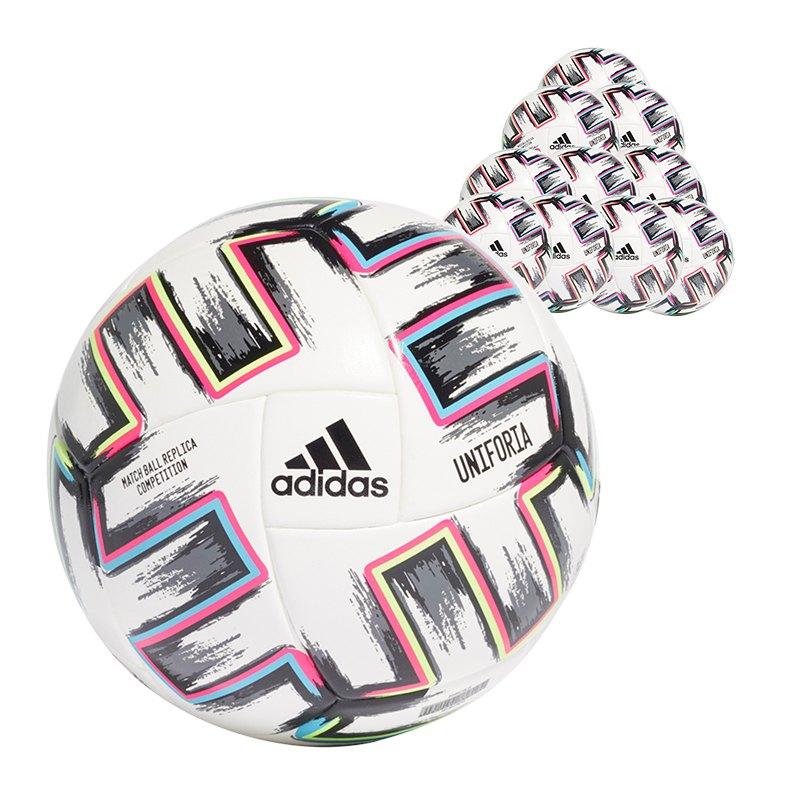 adidas Com Uniforia Spielball 10x Gr.5 Weiss - weiss
