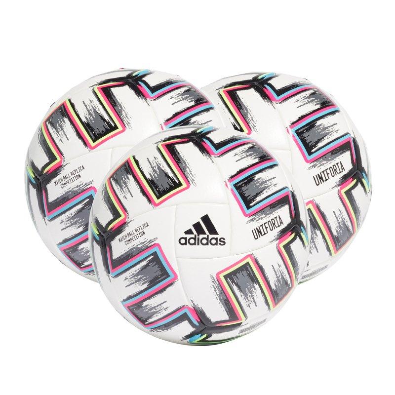 adidas Com Uniforia Spielball 3x Gr.5 Weiss - weiss