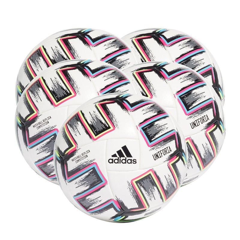 adidas Com Uniforia Spielball 5x Gr.5 Weiss - weiss
