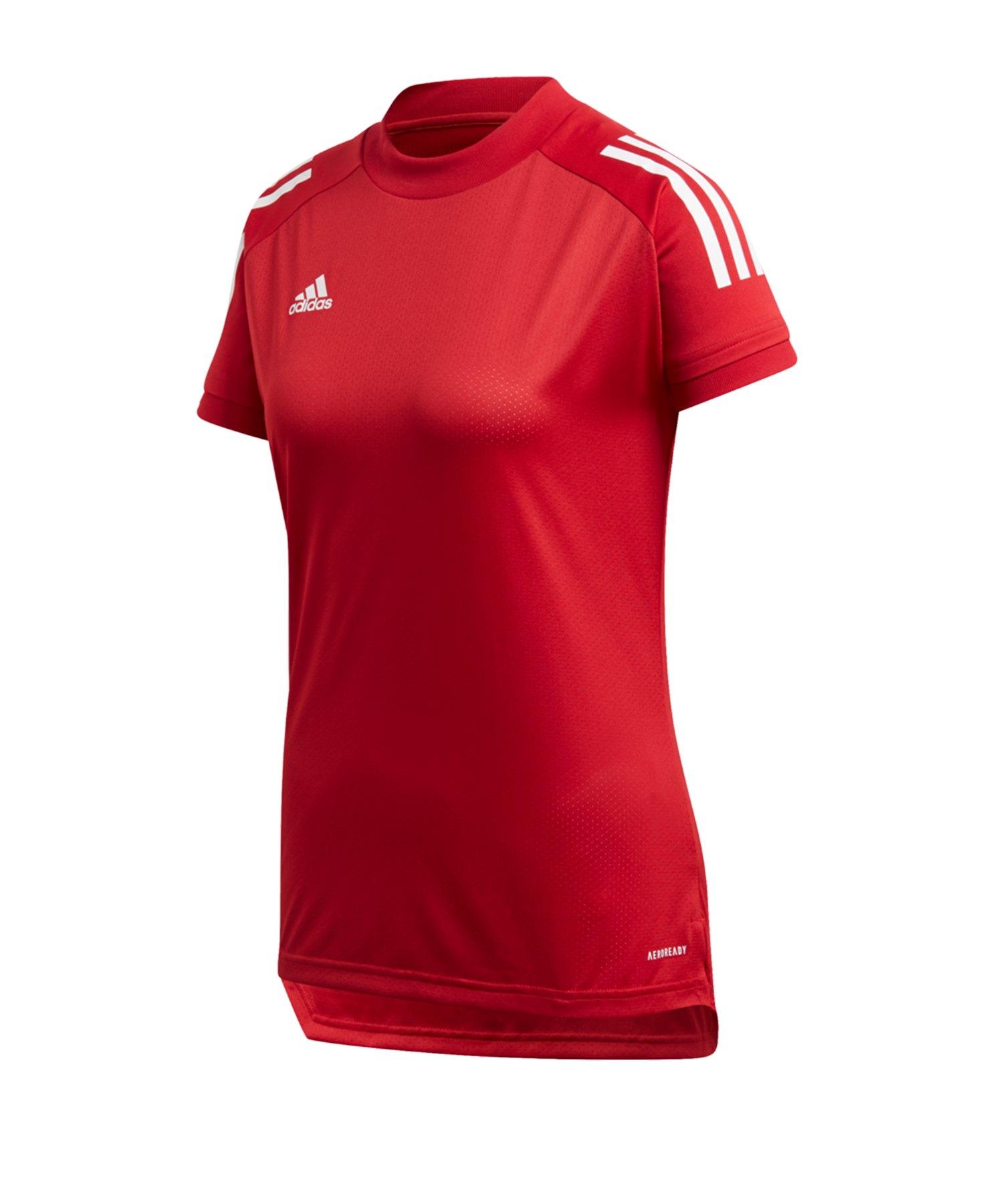 adidas Condivo 20 TR Shirt kurzarm Damen Rot Weiss - rot