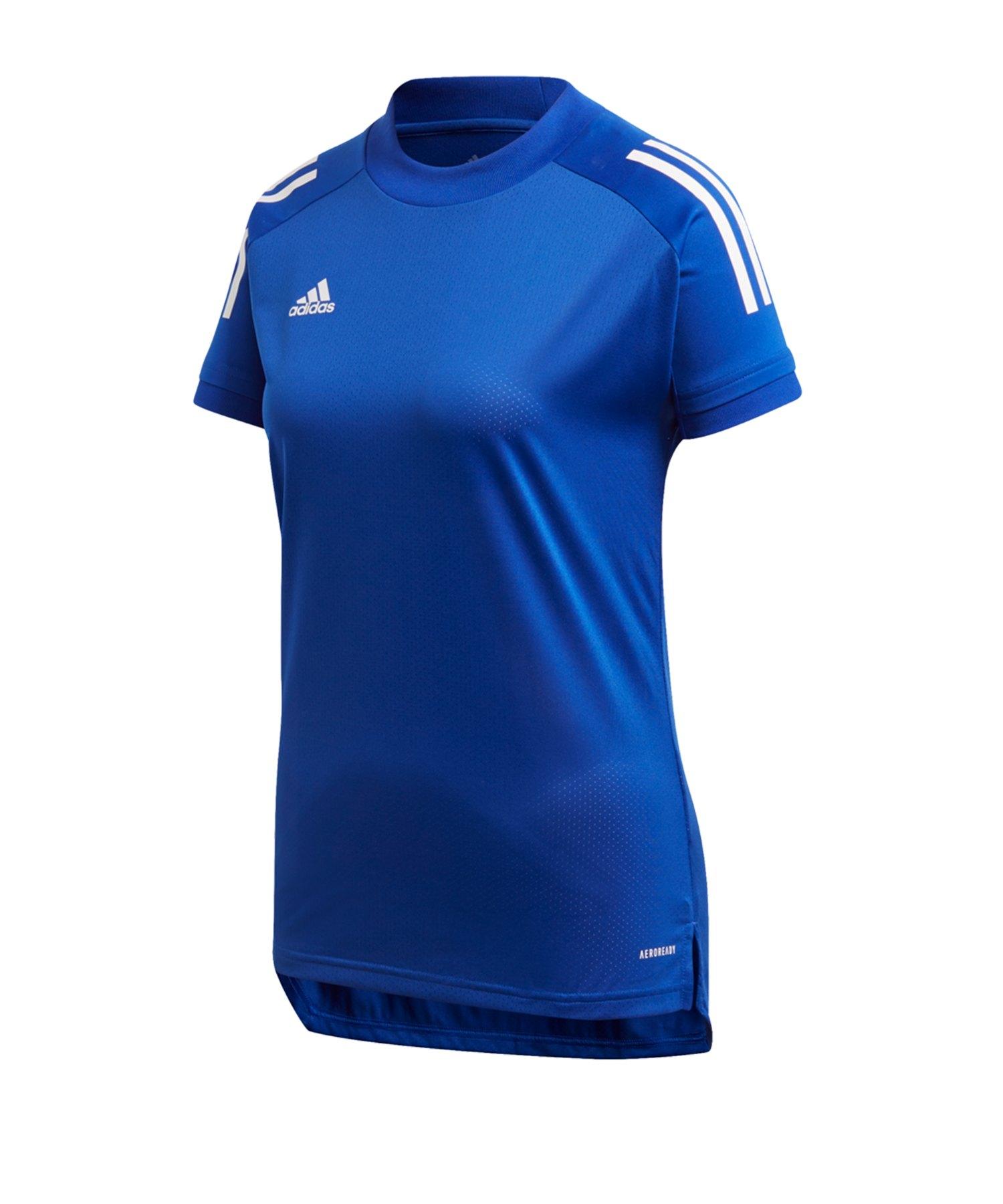 adidas Condivo 20 TR Shirt kurzarm Damen Blau - blau