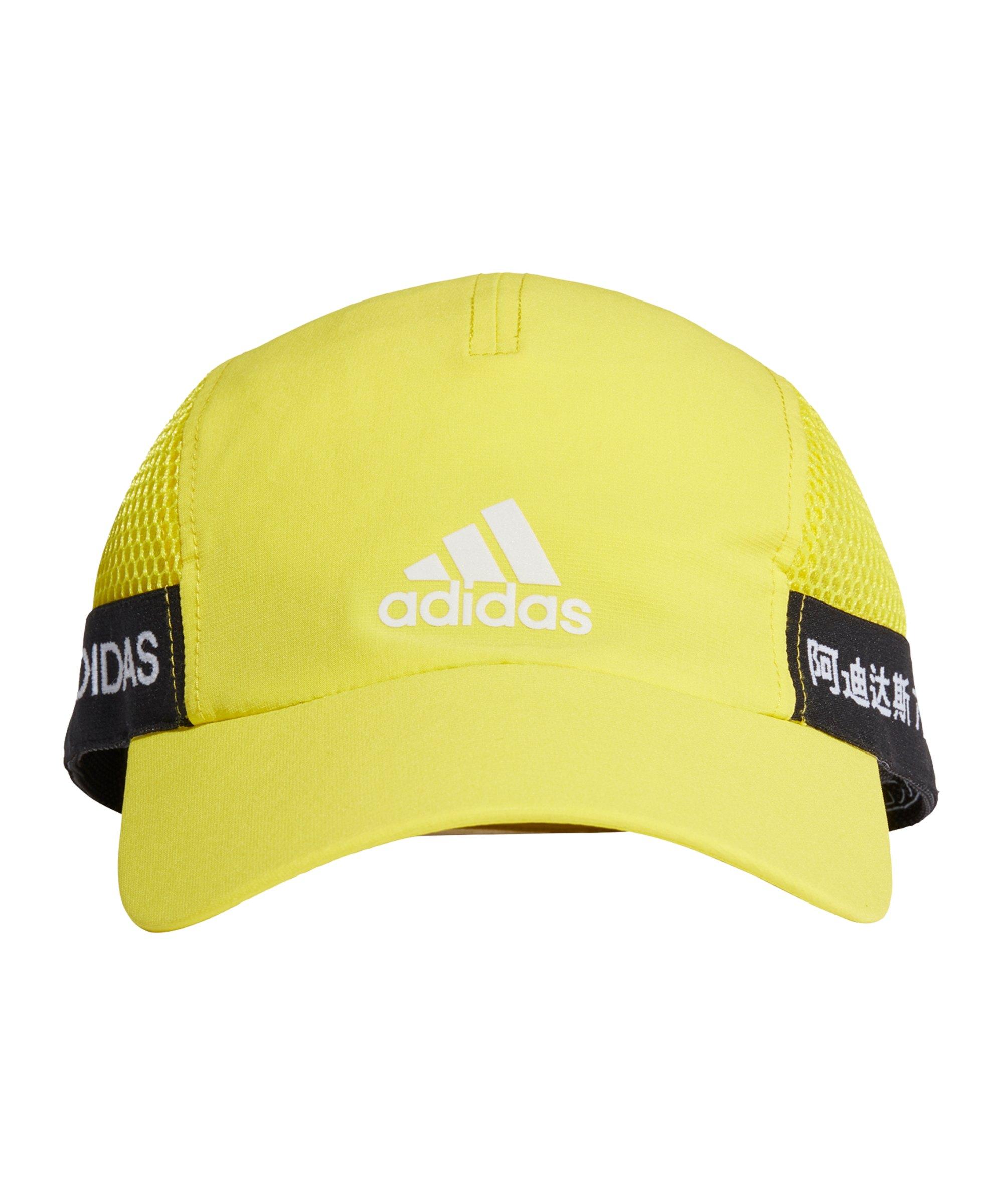 adidas Aeroready Runner Cap Gelb Schwarz - gelb