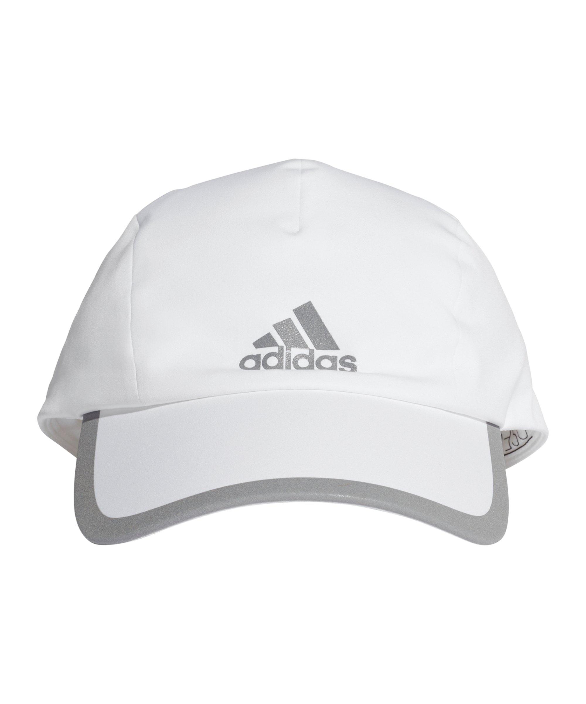adidas Run Bonded Cap Weiß Grau - weiss