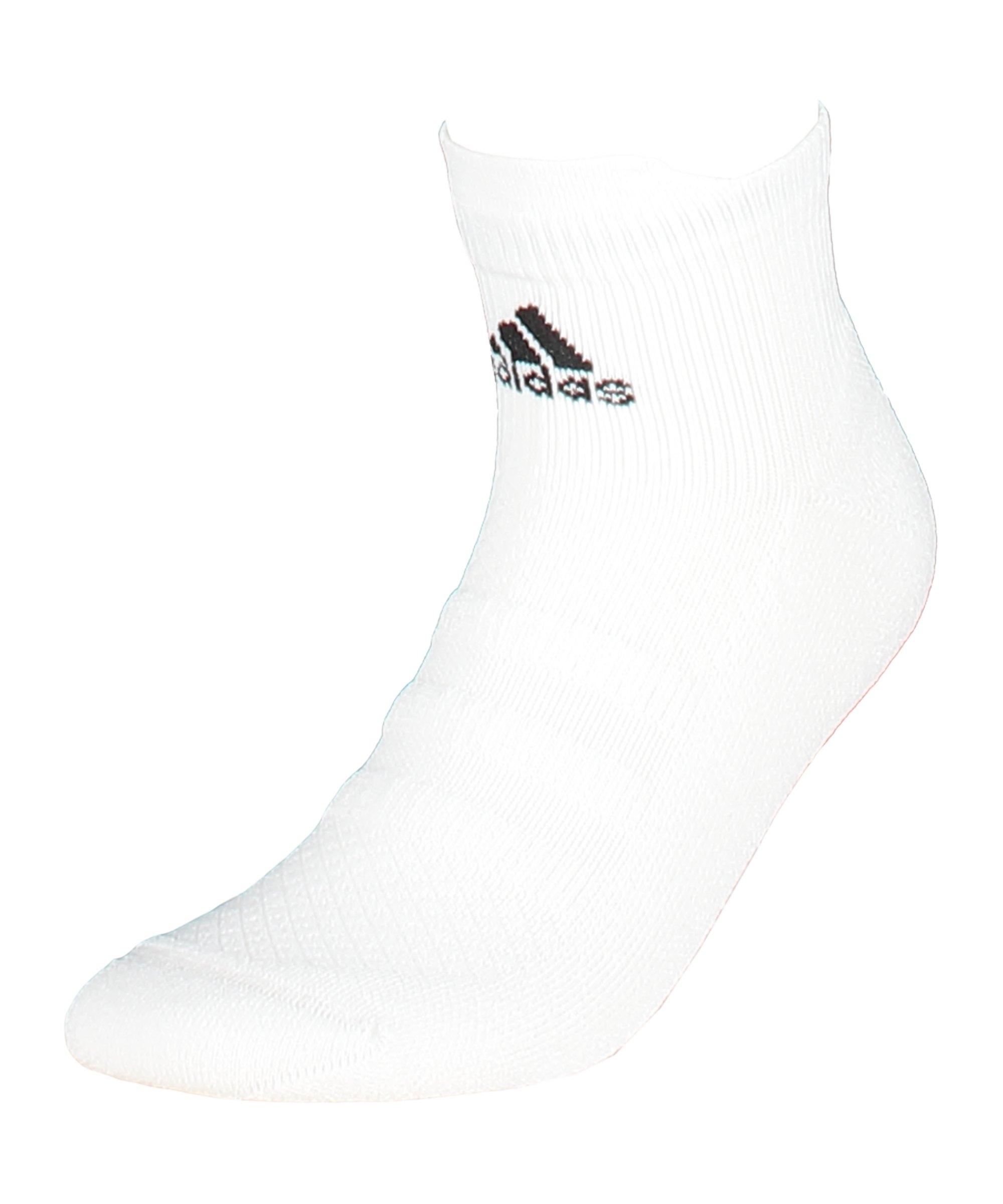 adidas Alphaskin Ankle LC Socken Weiss - weiss