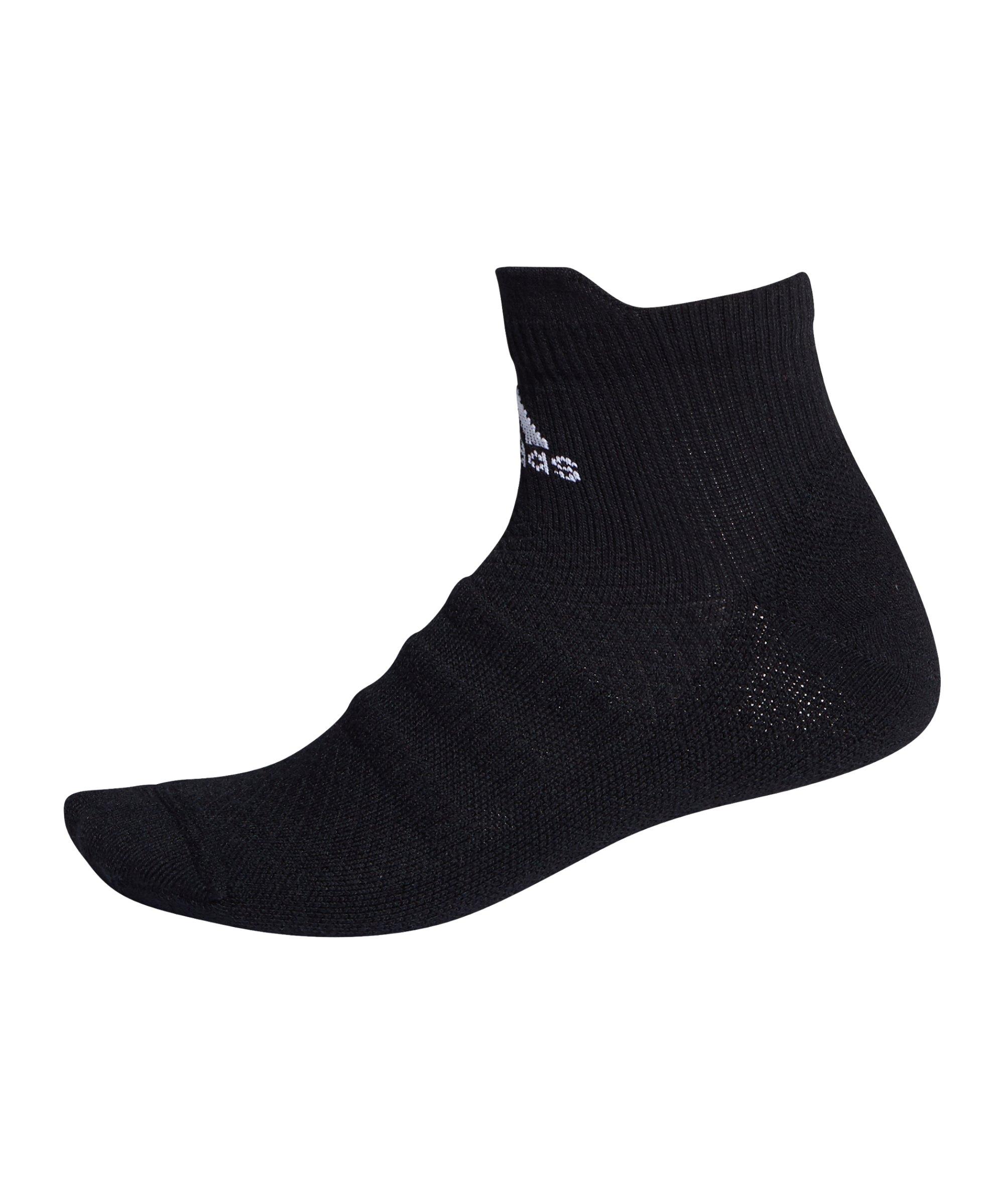 adidas Alphaskin Ankle LC Socken Schwarz - schwarz