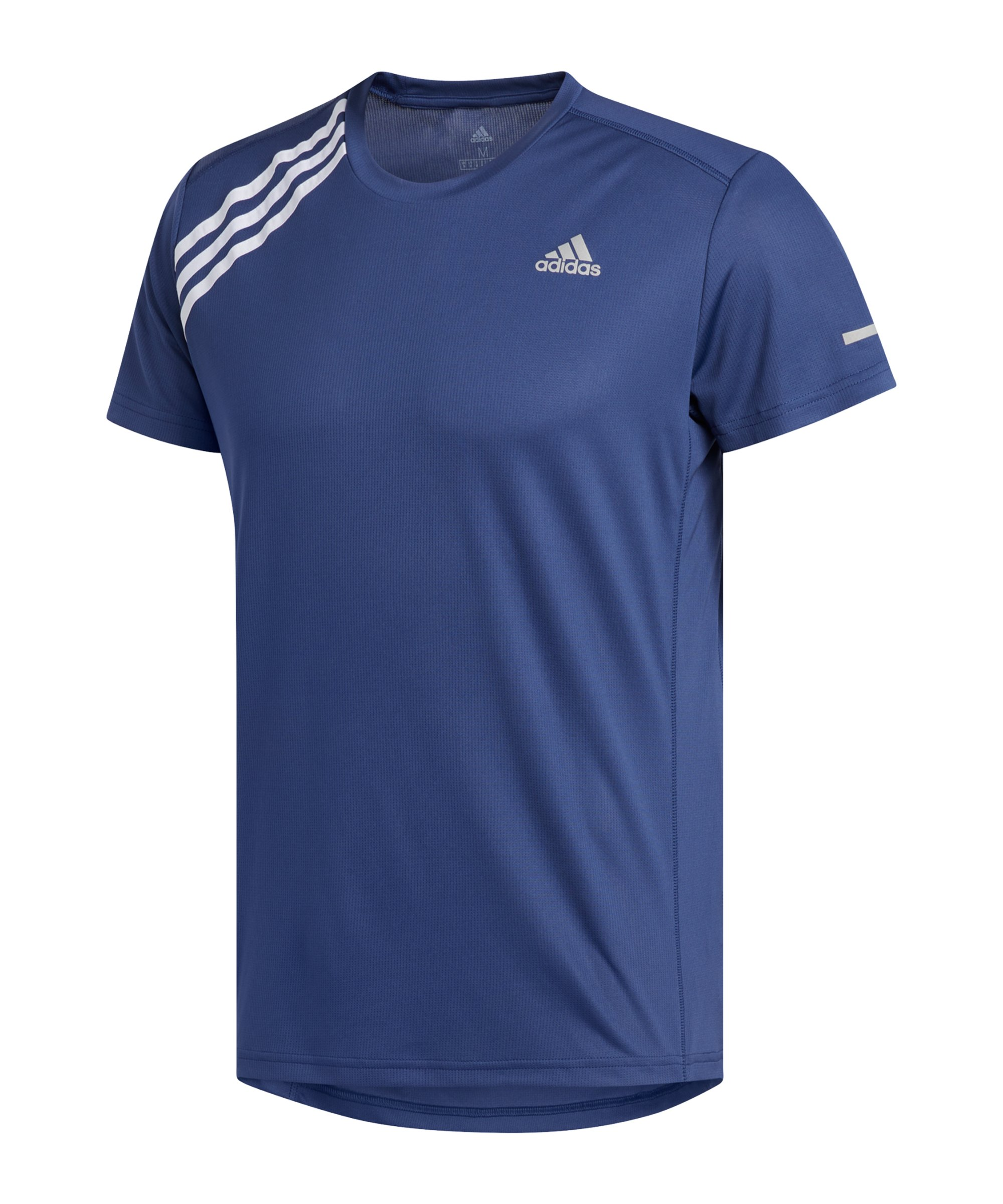 adidas Own The Run T-Shirt Running Blau Weiss - blau