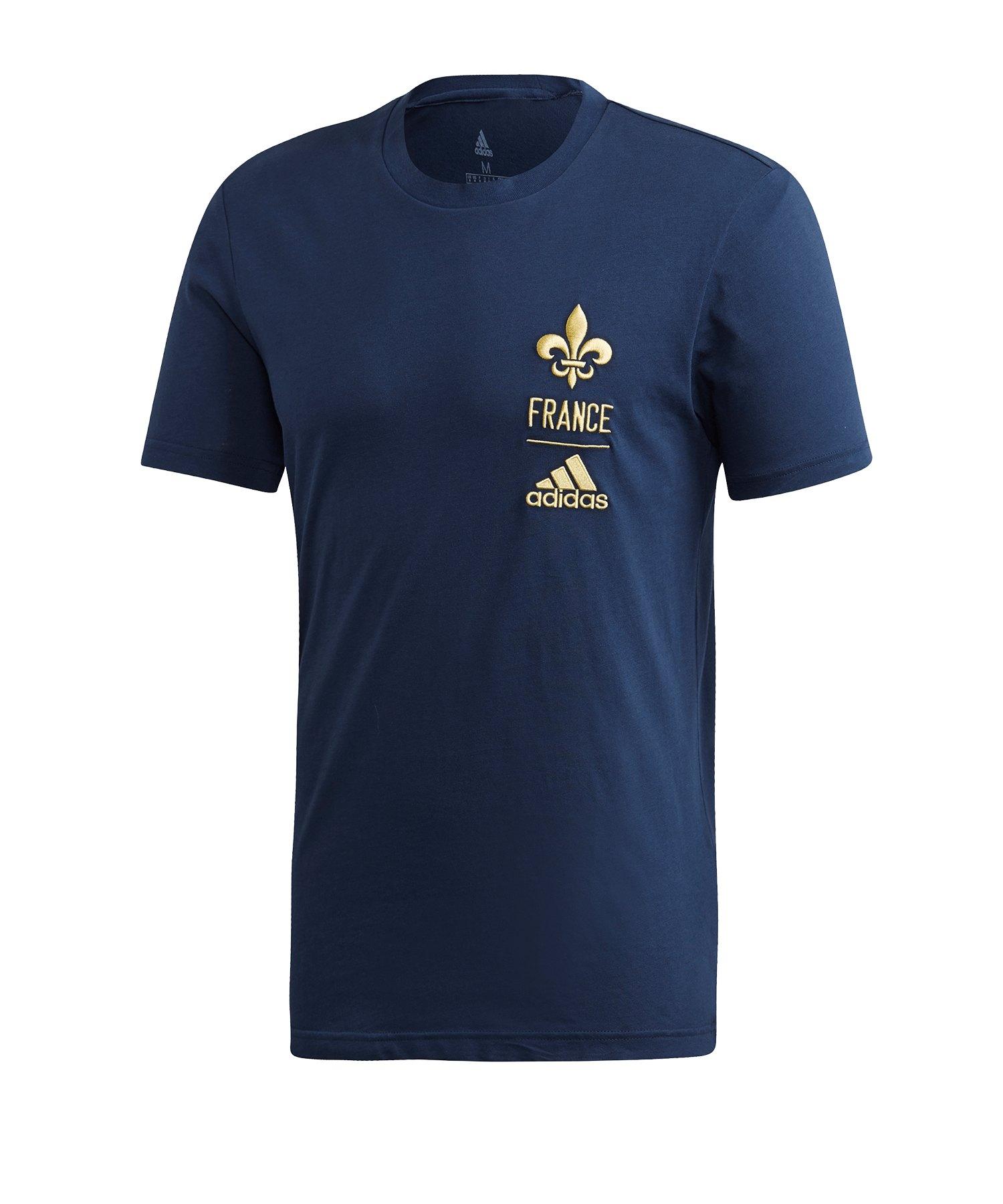adidas Frankreich T-Shirt Blau - blau