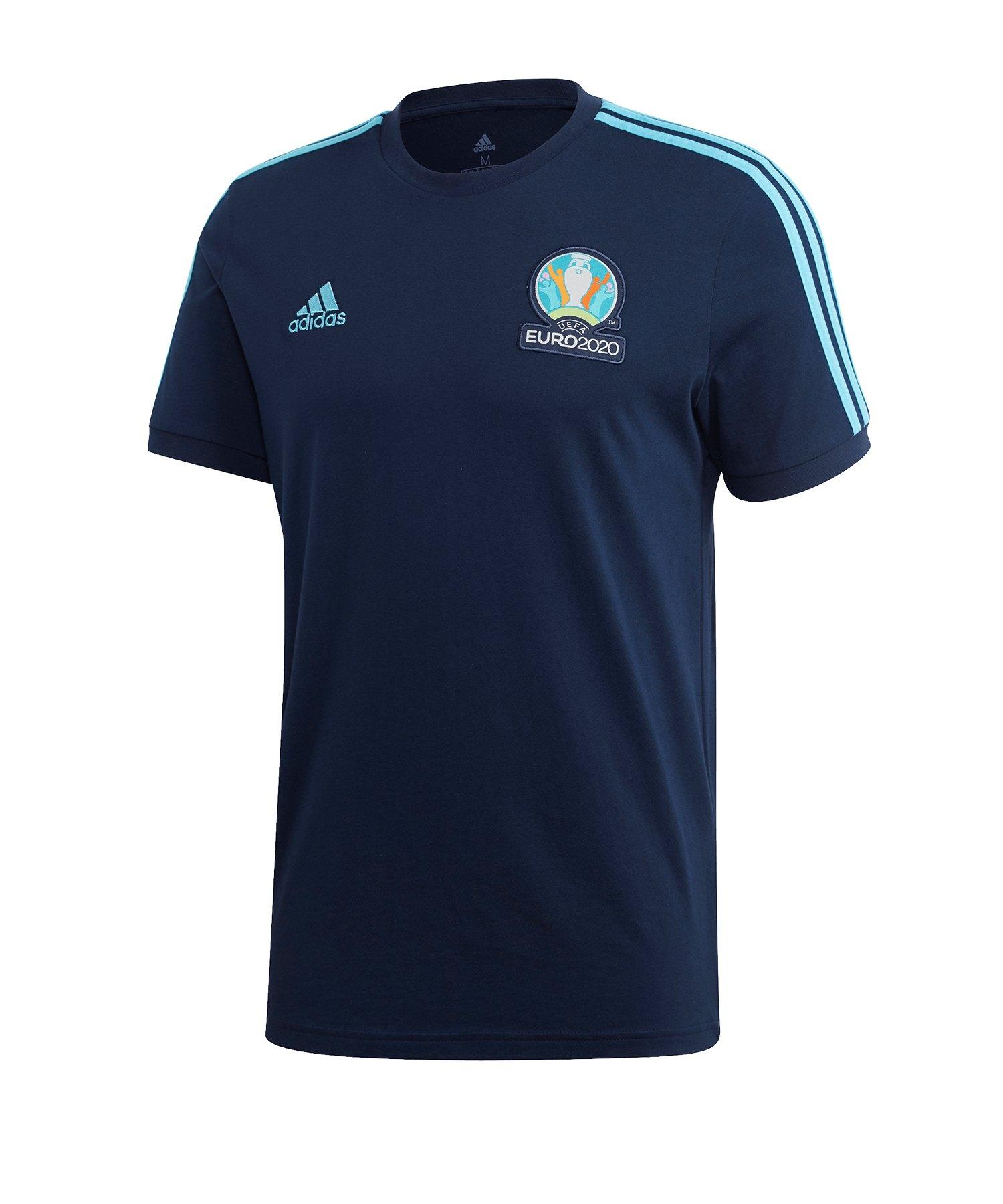 adidas UEFA EM 2020 T-Shirt Blau - blau