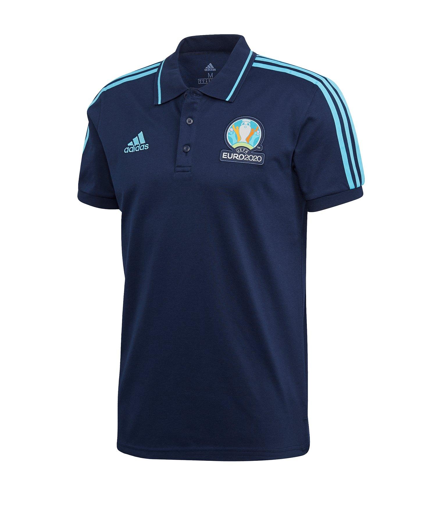 adidas UEFA EM 2020 Poloshirt Blau - blau