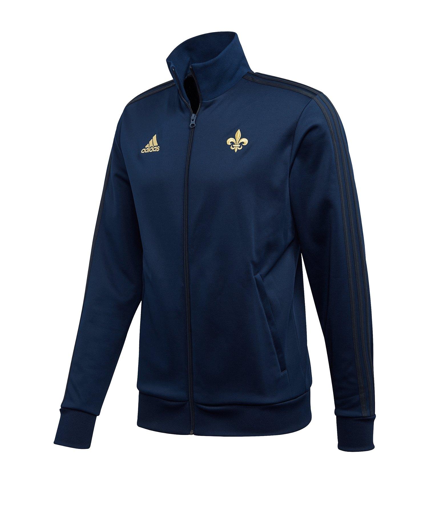 adidas Frankreich Trainingsjacke Blau - blau