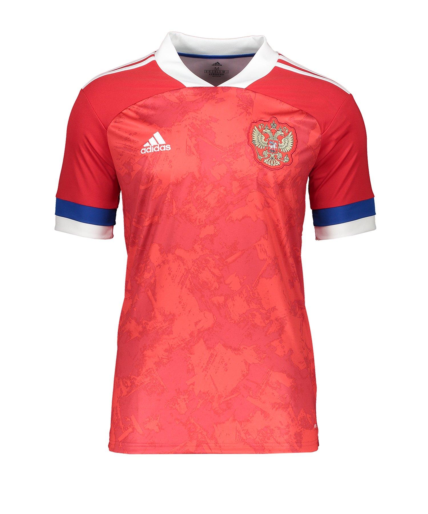 adidas Russland Trikot Home EM 2020 Rot - rot