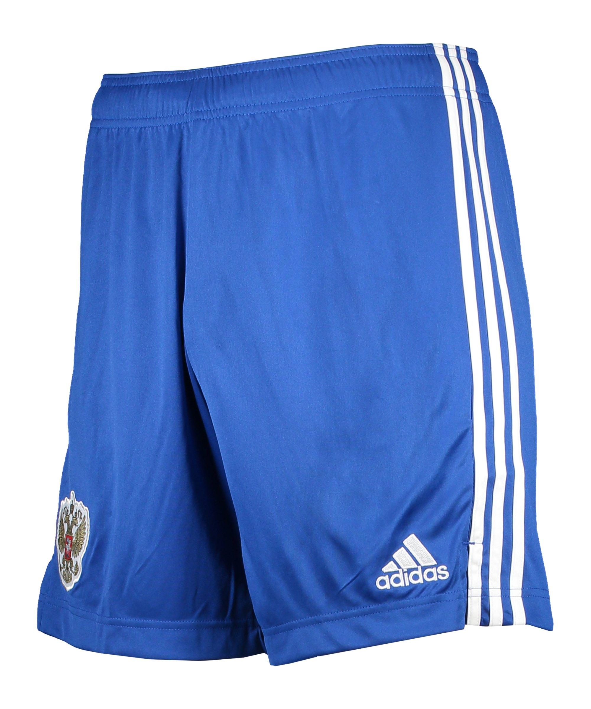 adidas Russland Short Away EM 2020 Blau - blau