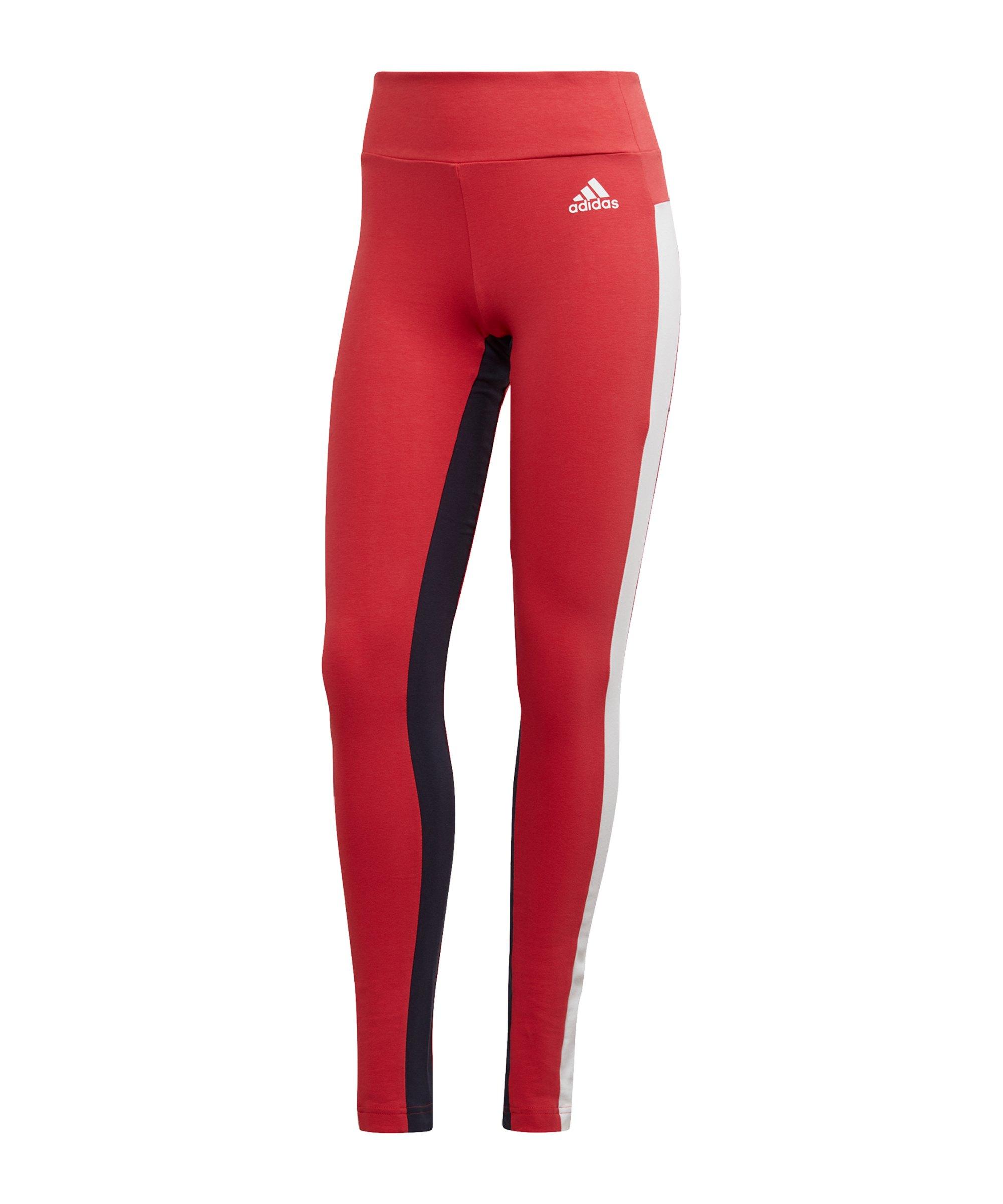 adidas SP Tight Damen Rot Weiss Schwarz - rot