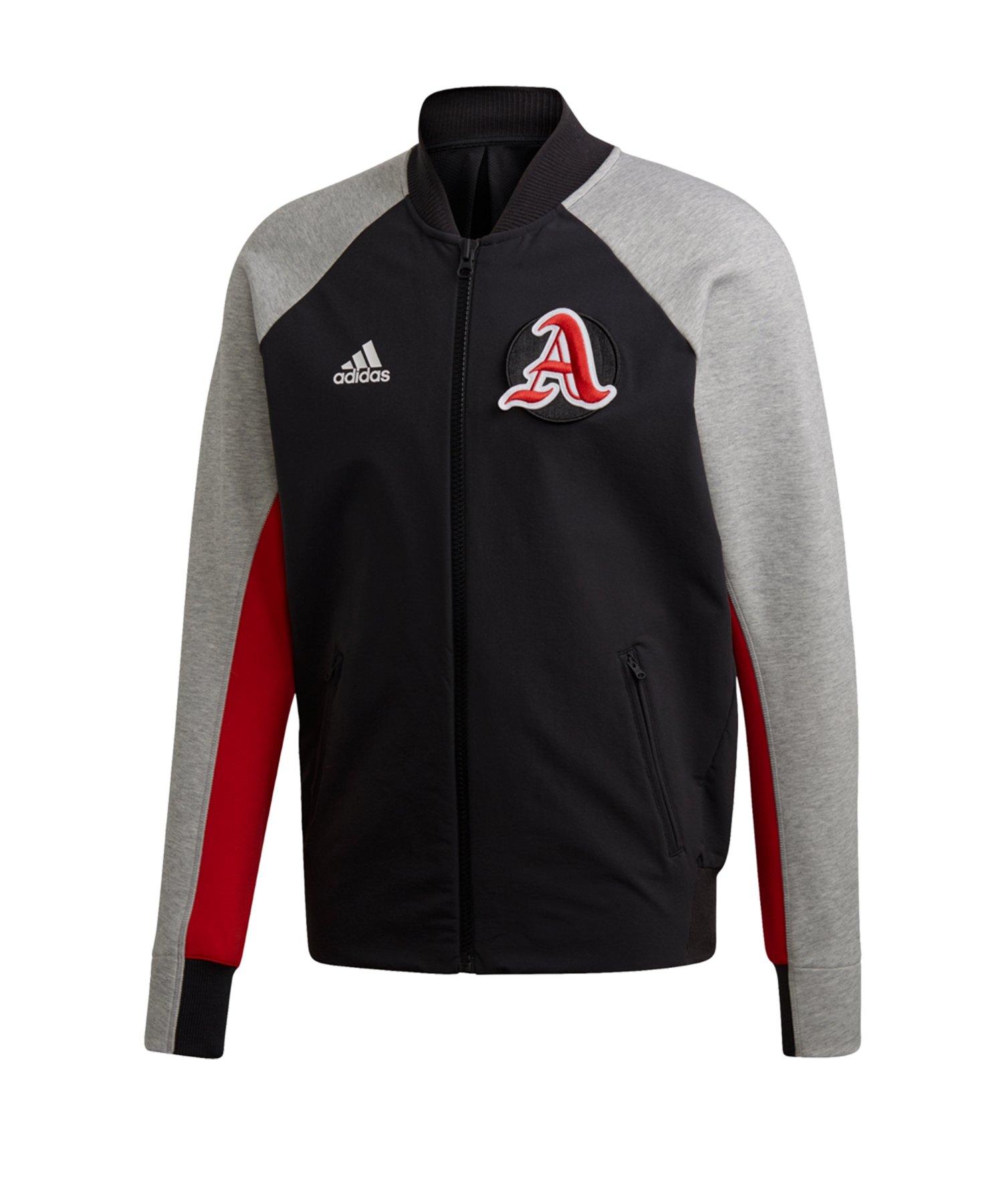 adidas VRCT Jacket Jacke Schwarz Grau Rot - schwarz