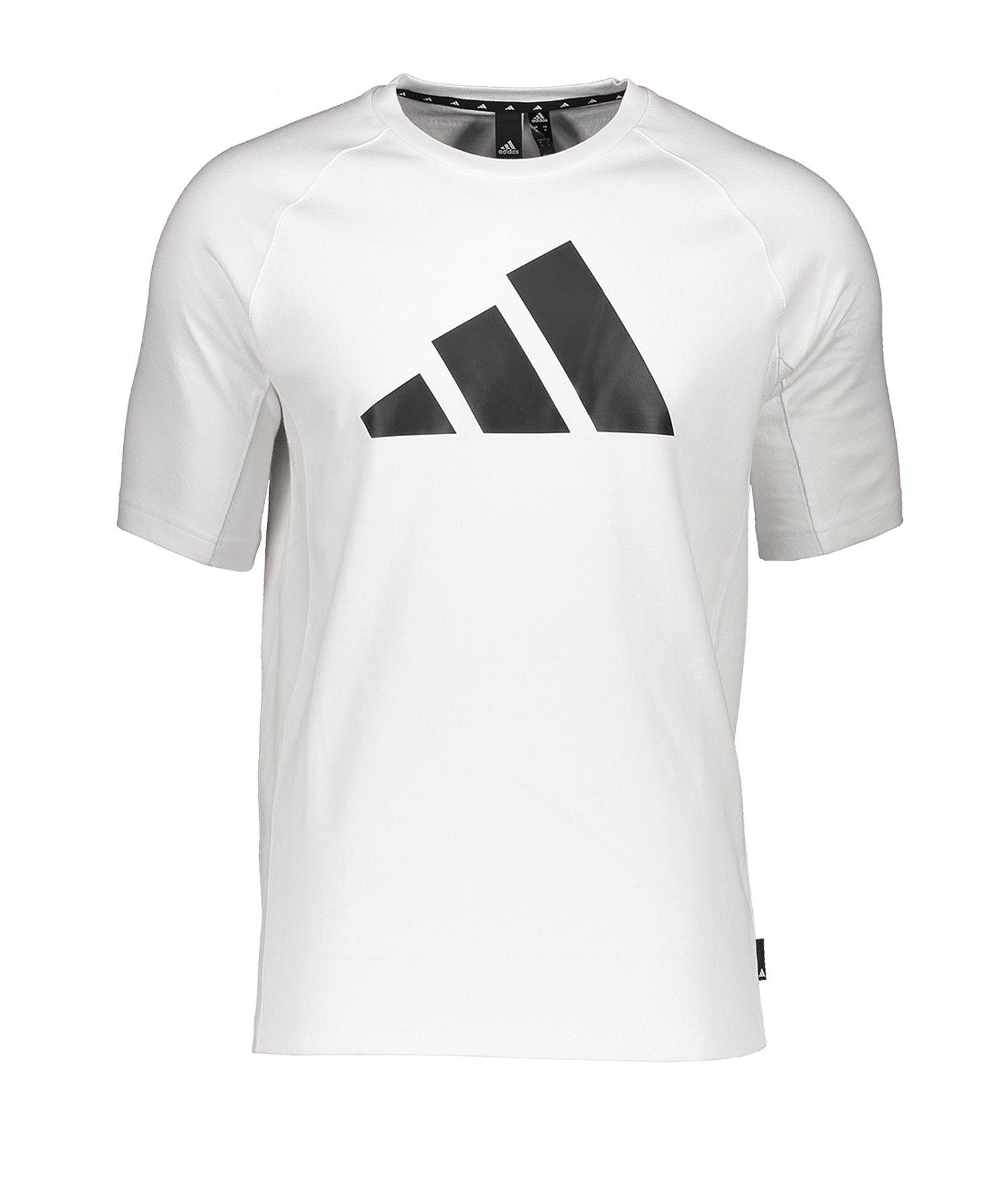 adidas PACK Heavy Tee T-Shirt Weiss Schwarz - weiss