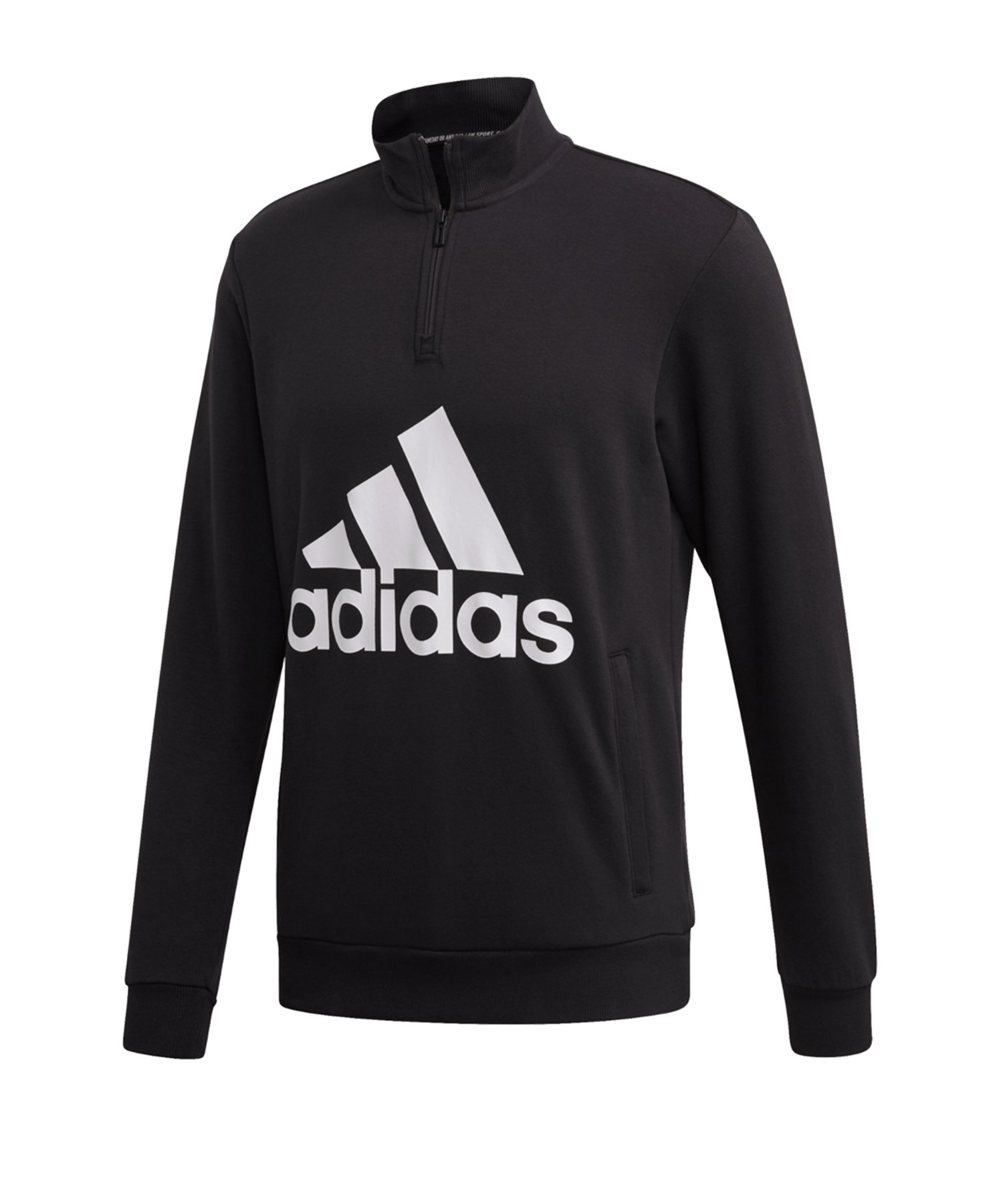 adidas MH Badge of Sport 1/4Zip Sweatshirt Schwarz - schwarz