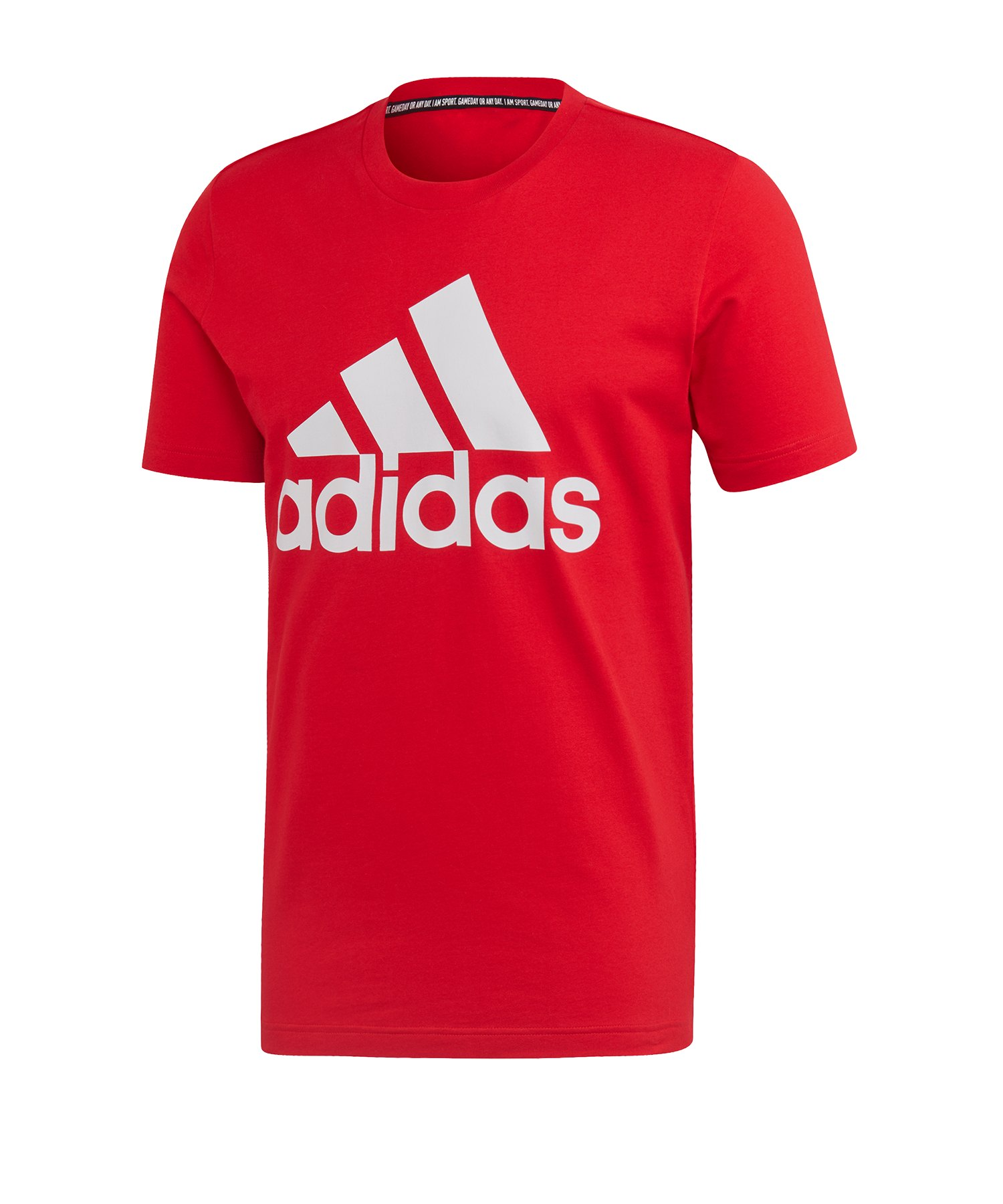 adidas MH Badge of Sport T-shirt Rot Weiss - rot