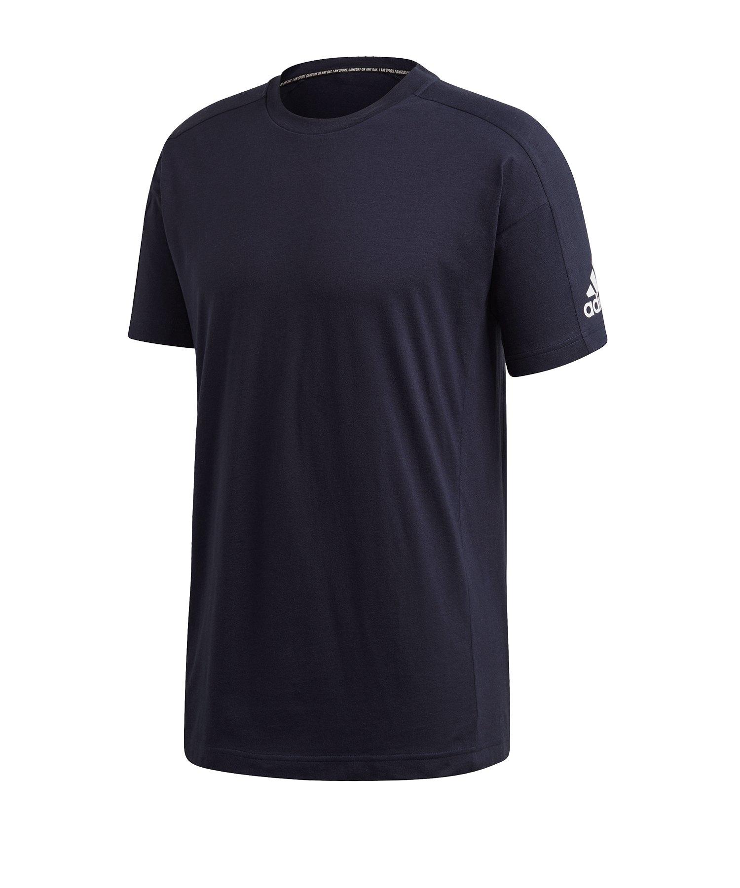 adidas MH Plain T-Shirt Schwarz - blau
