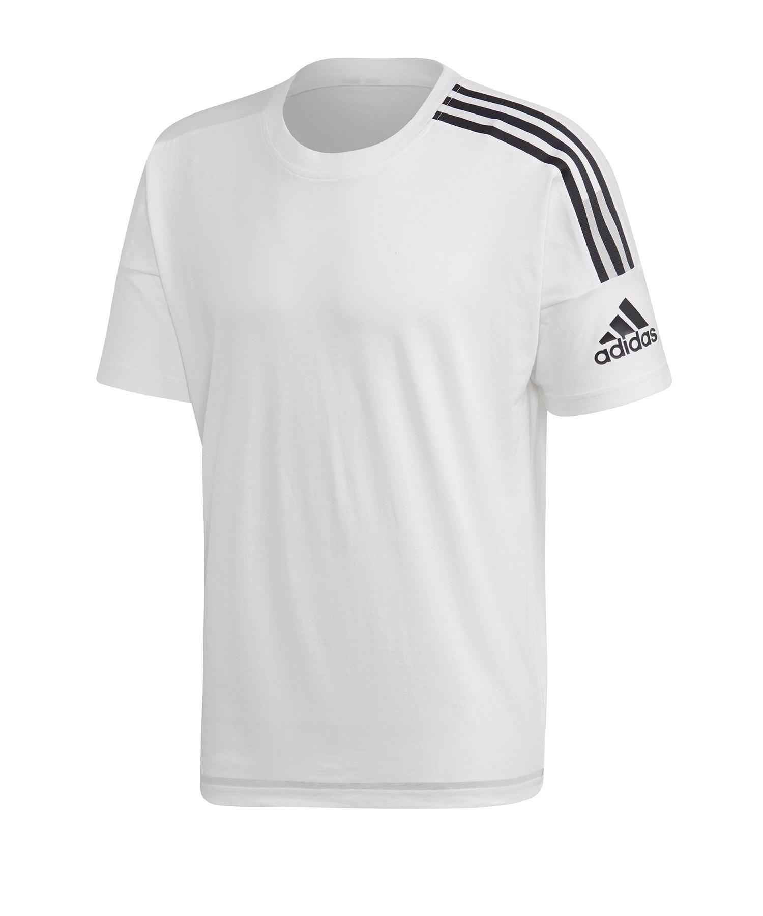 adidas ZNE 3ST Tee T-Shirt Weiss Schwarz - weiss